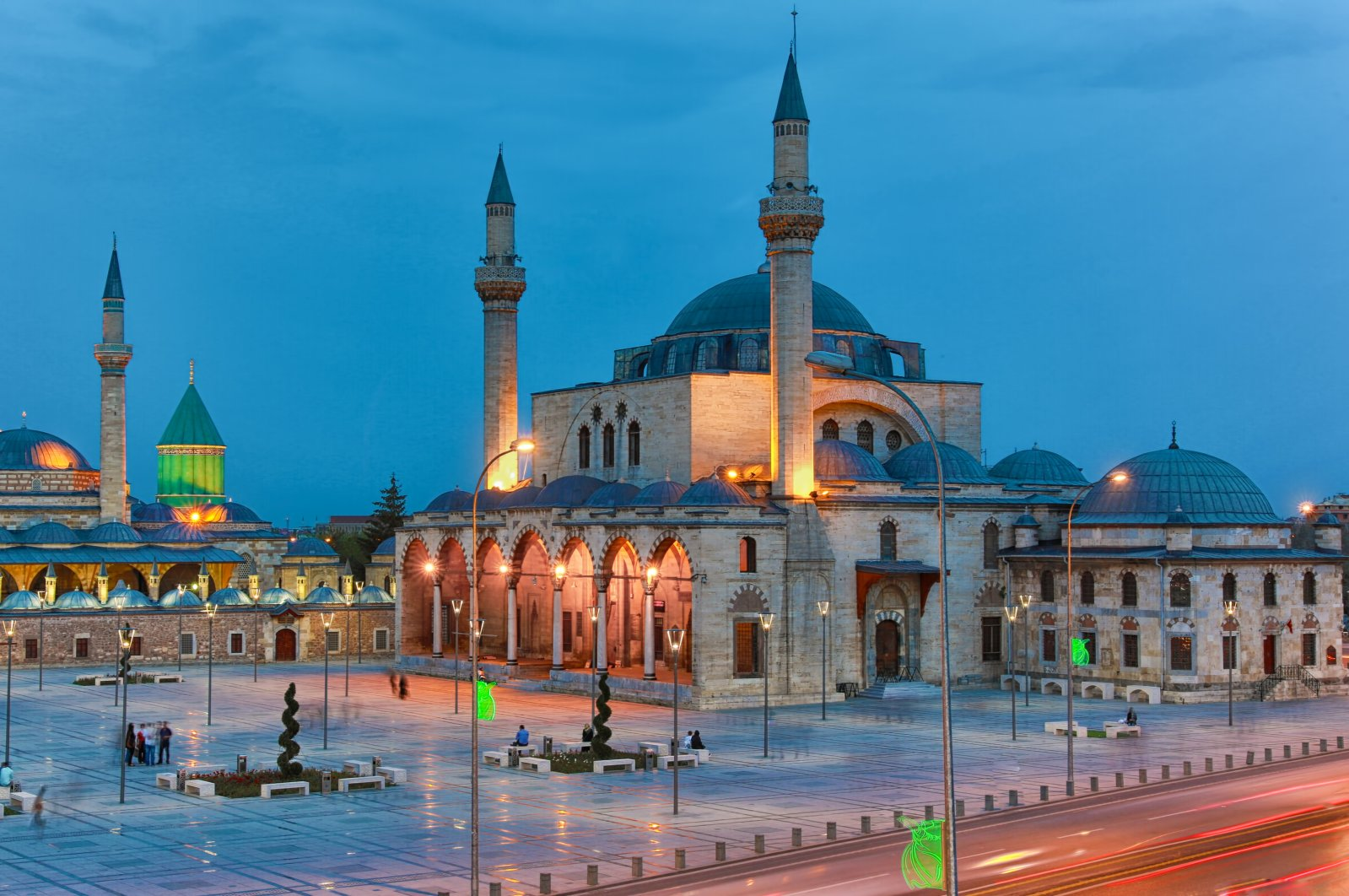 The Mevlana Musem and a view of Mevlana Square in Konya, Turkey. (Shutterstock Photo)