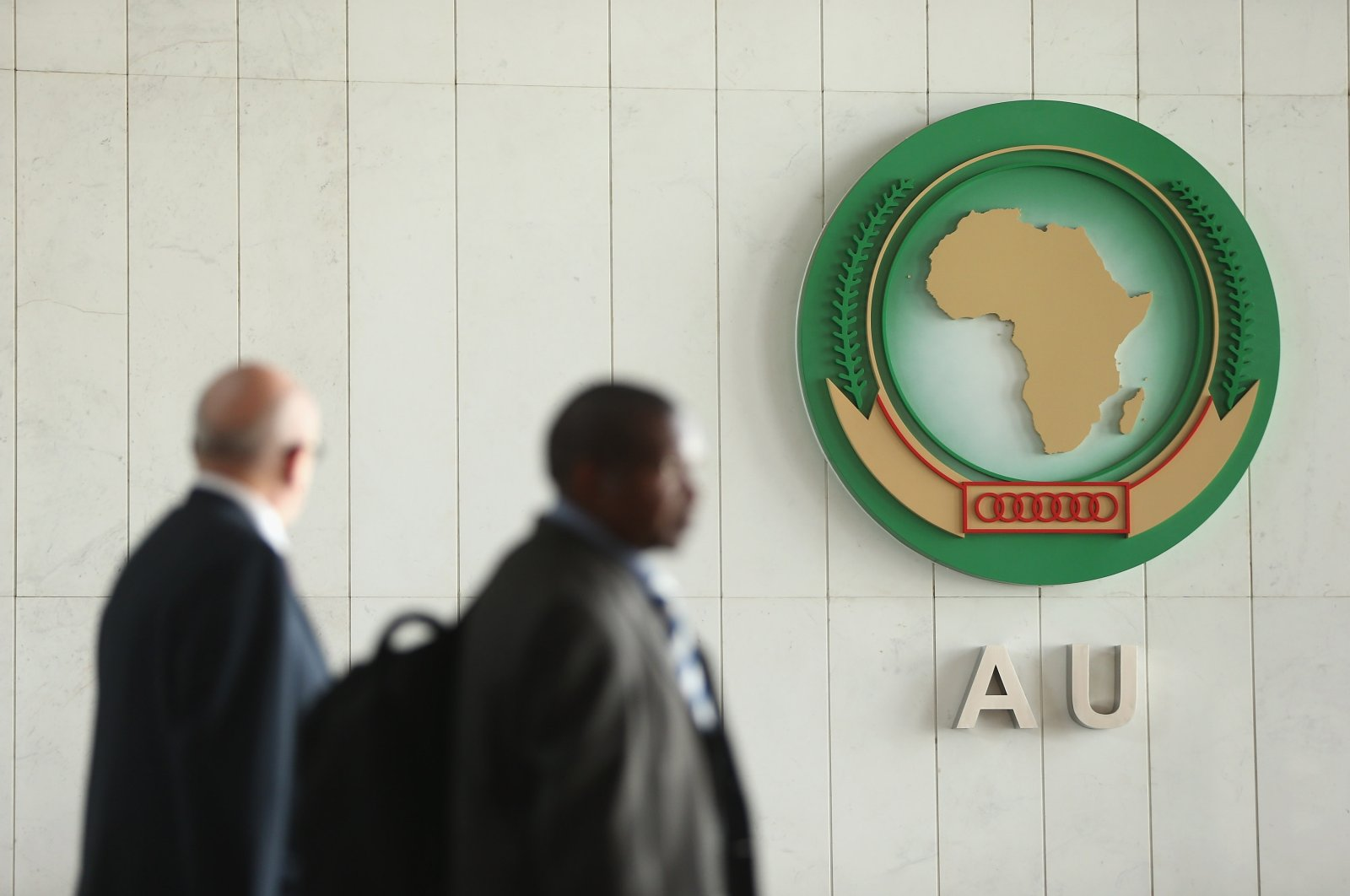 People walk through the main lobby at the headquarters of the African Union in Addis Ababa, Ethiopia, March 18, 2013. (Getty Images)