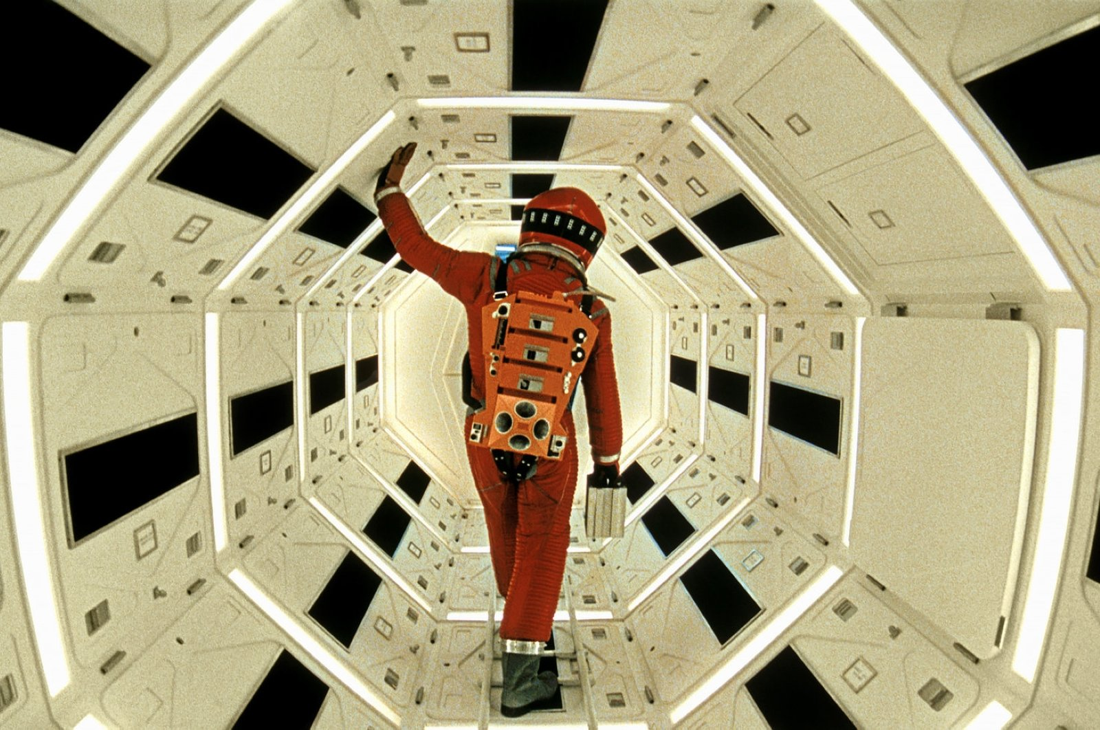 """A still shot from Stanley Kubrick's """"2001: Space Odyssey."""""""