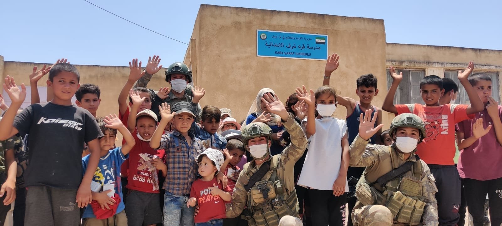 Children in northern Syria's Operation Peace Spring zone, July 24, 2021. (AA Photo)