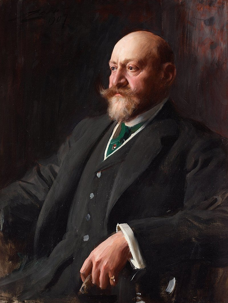 A painting of Sir Ernest Cassel by Anders Zorn.