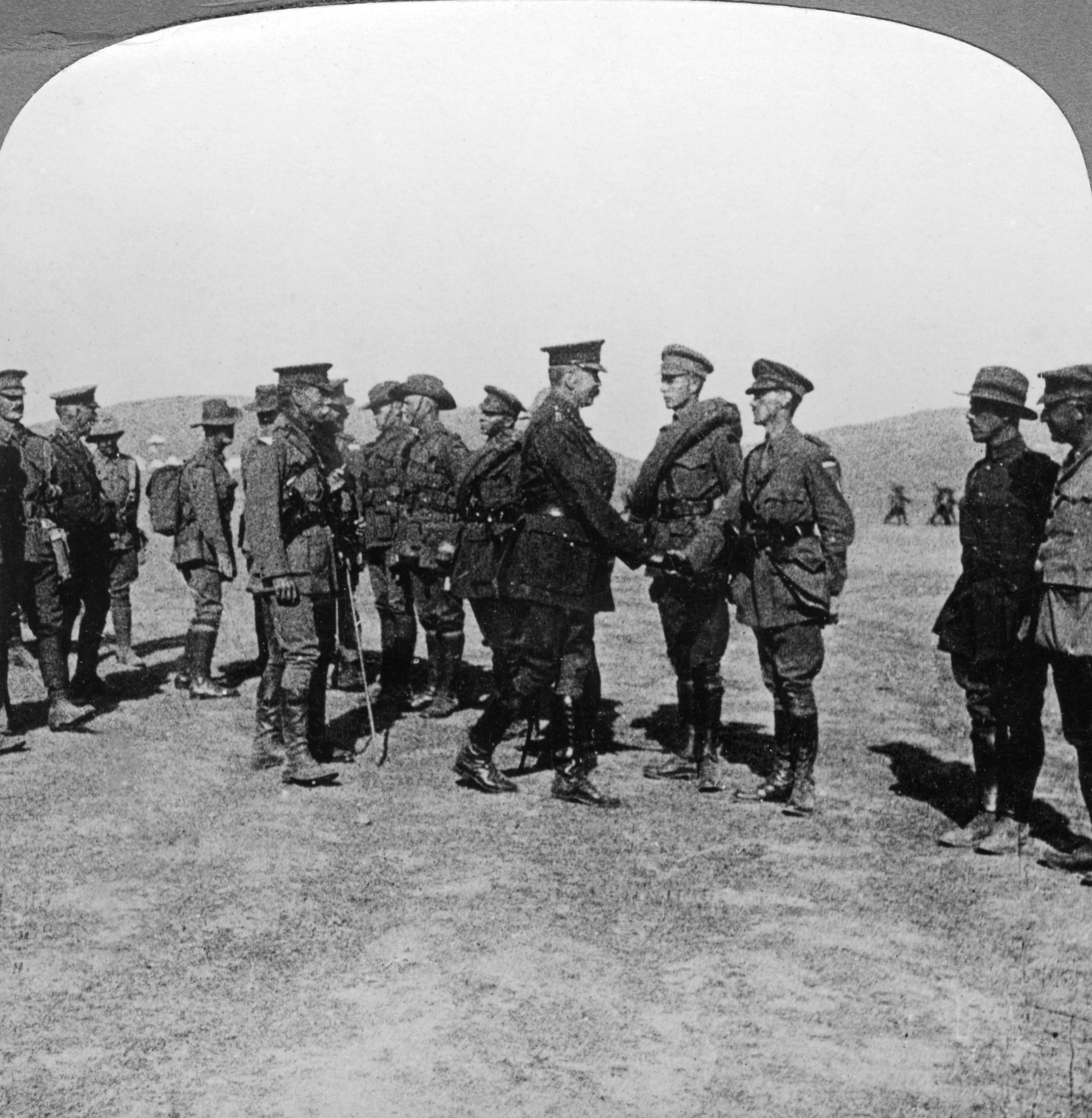 Lord Kitchener praises troops for their assaults at the Dardanelles, World War I, 1915-1916. (Getty Images)