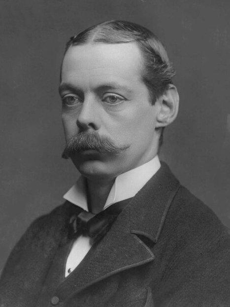 An old photo of Lord Randolph Churchill.