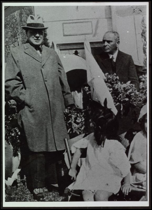 Winston Churchill as Secretary of State for the Colonies during his visit to Mandatory Palestine, Tel Aviv, 1921.
