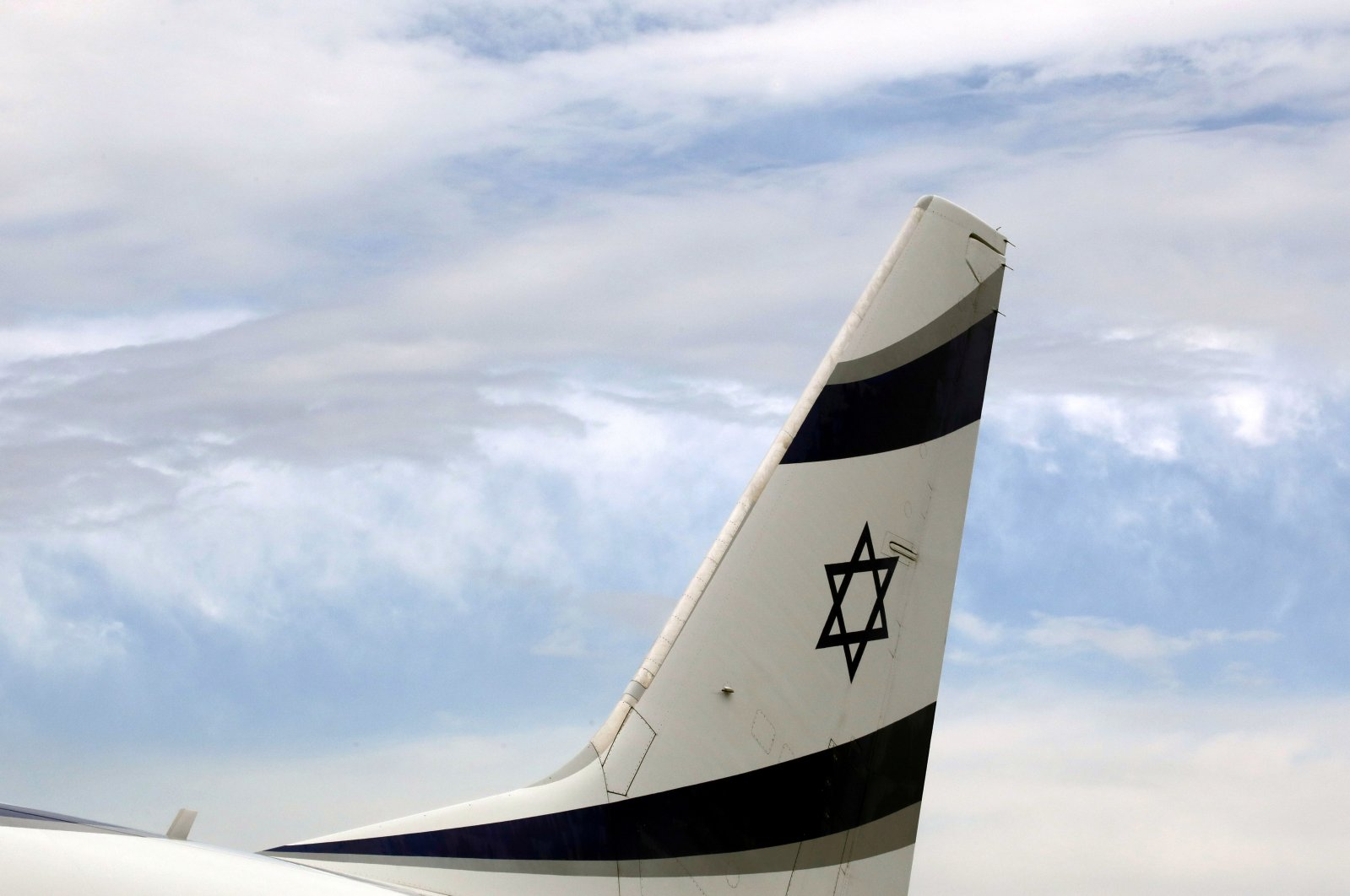 An Israel El Al airlines plane is seen after its landing at Nice international airport, France, April 4, 2019. (Reuters Photo)