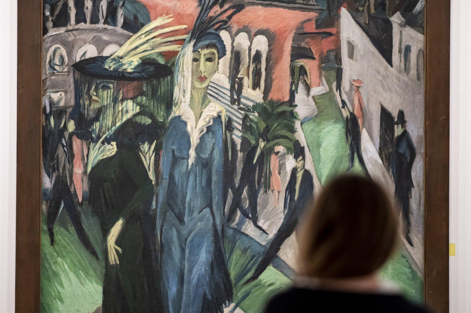 "Ernst Ludwig Kirchner's""Potsdamer Platz"" at Neue Nationalgalerie, Berlin, Germany. (DPA Photo)"