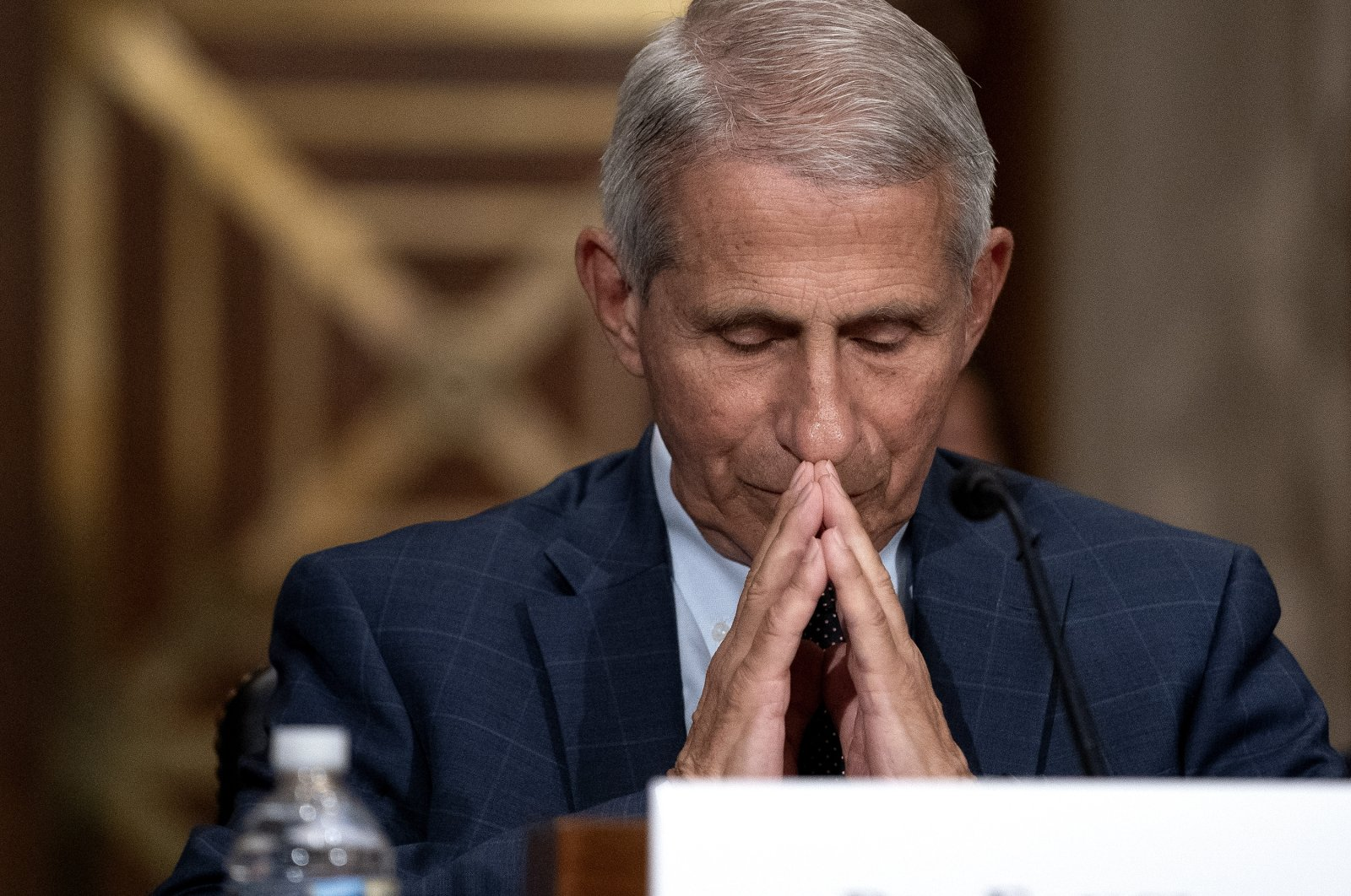 Anthony Fauci, director of the National Institute of Allergy and Infectious Diseases, during a Senate Health, Education, Labor, and Pensions Committee hearing at the Dirksen Senate Office Building in Washington, D.C., U.S., July 20, 2021. (EPA Photo)