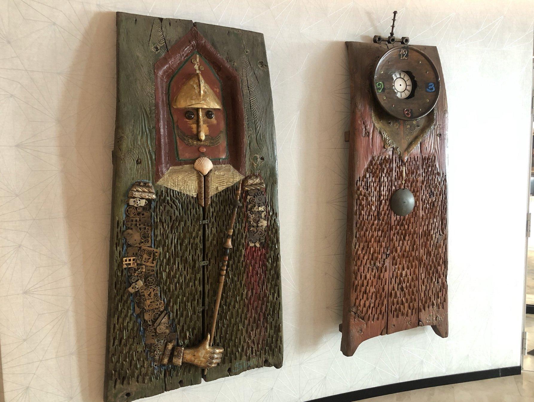 Wooden artwork at Hyatt Regency Sofia, Bulgaria.
