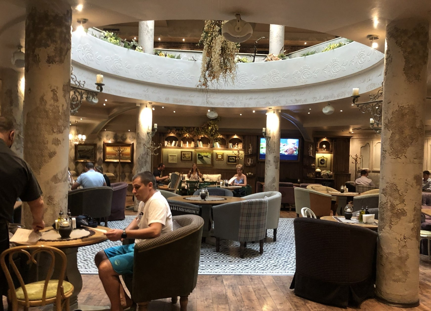 The interior of the Shtastliveca Restaurant, Sofia, Bulgaria.