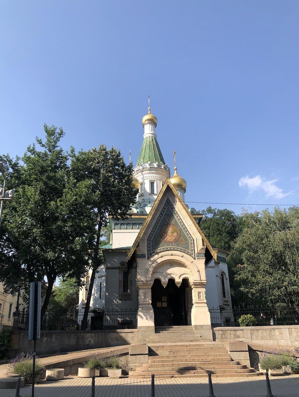 The Russian church in Sofia, Bulgaria.