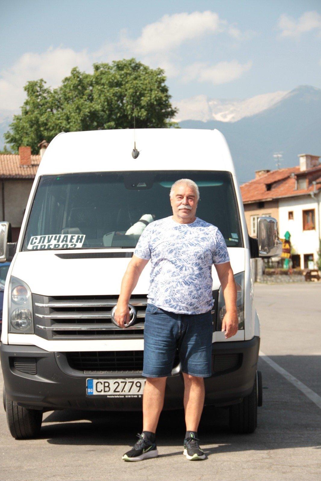 Mr. Dancho, our driver during the trip, Bulgaria. (Photo courtesy of Yaşar Çelik/Turizm Günlüğü)