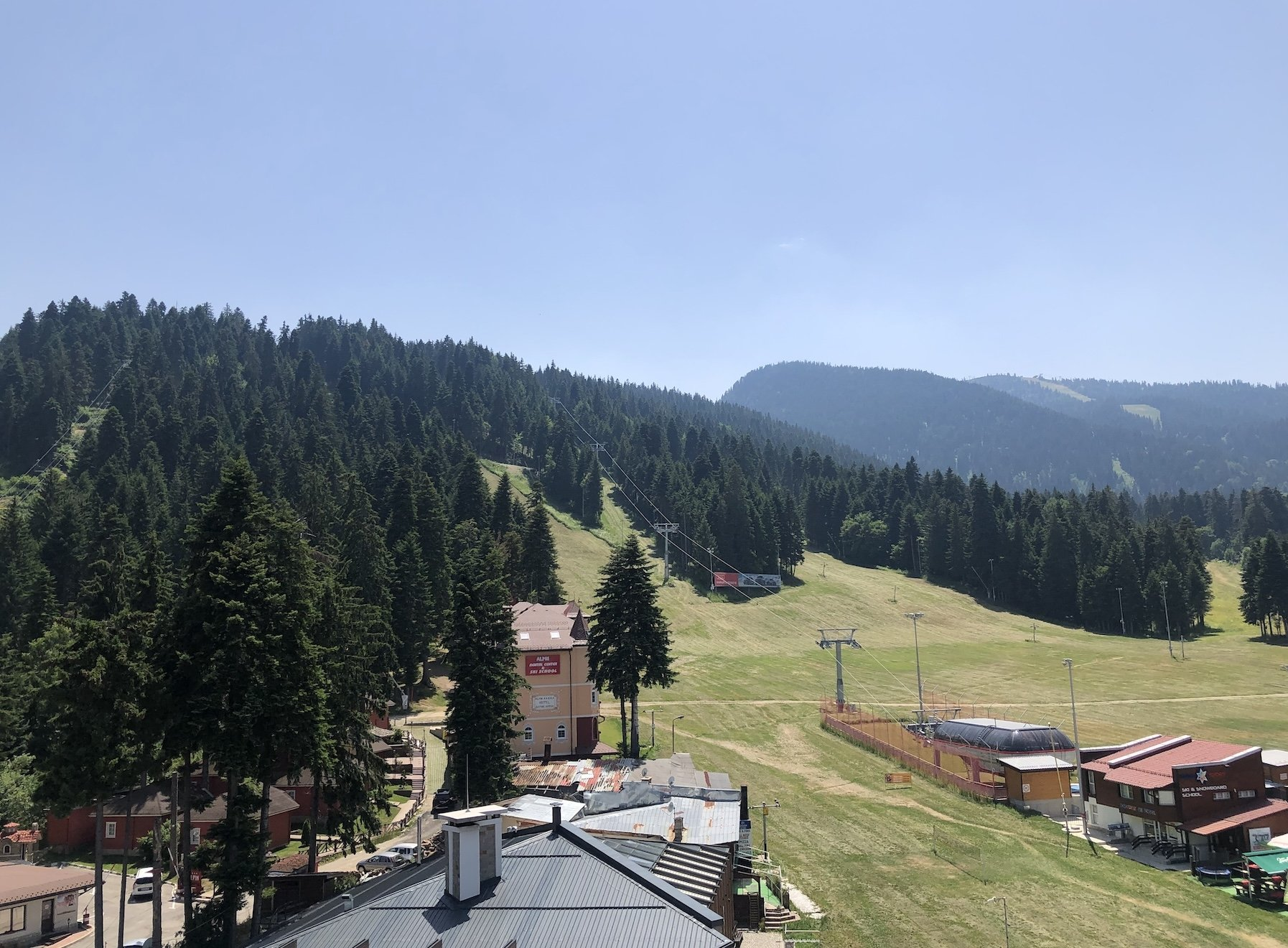 A view of Borovets from Hotel Rila, Bulgaria.