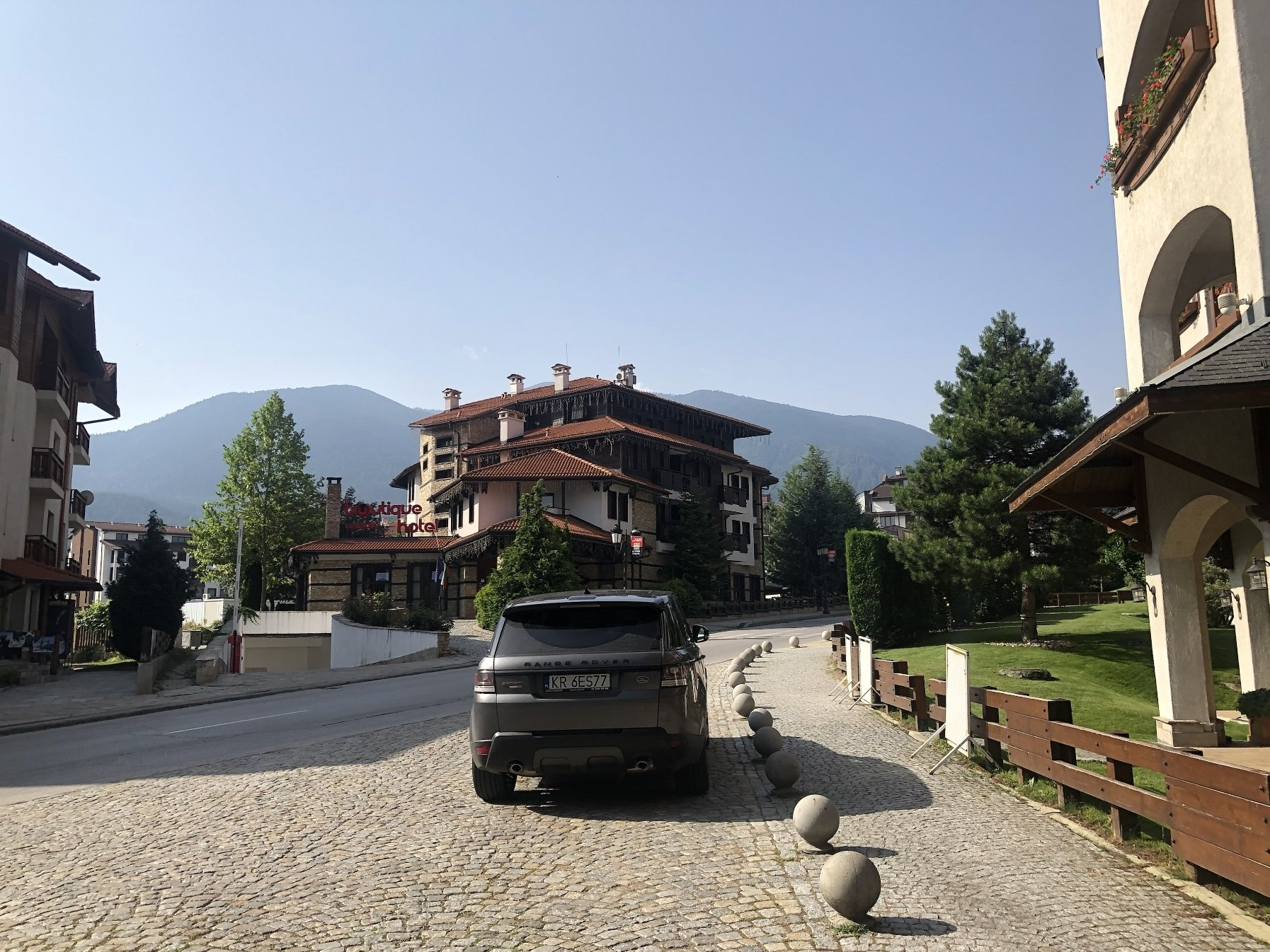 A view of Bansko from the Kempinski.