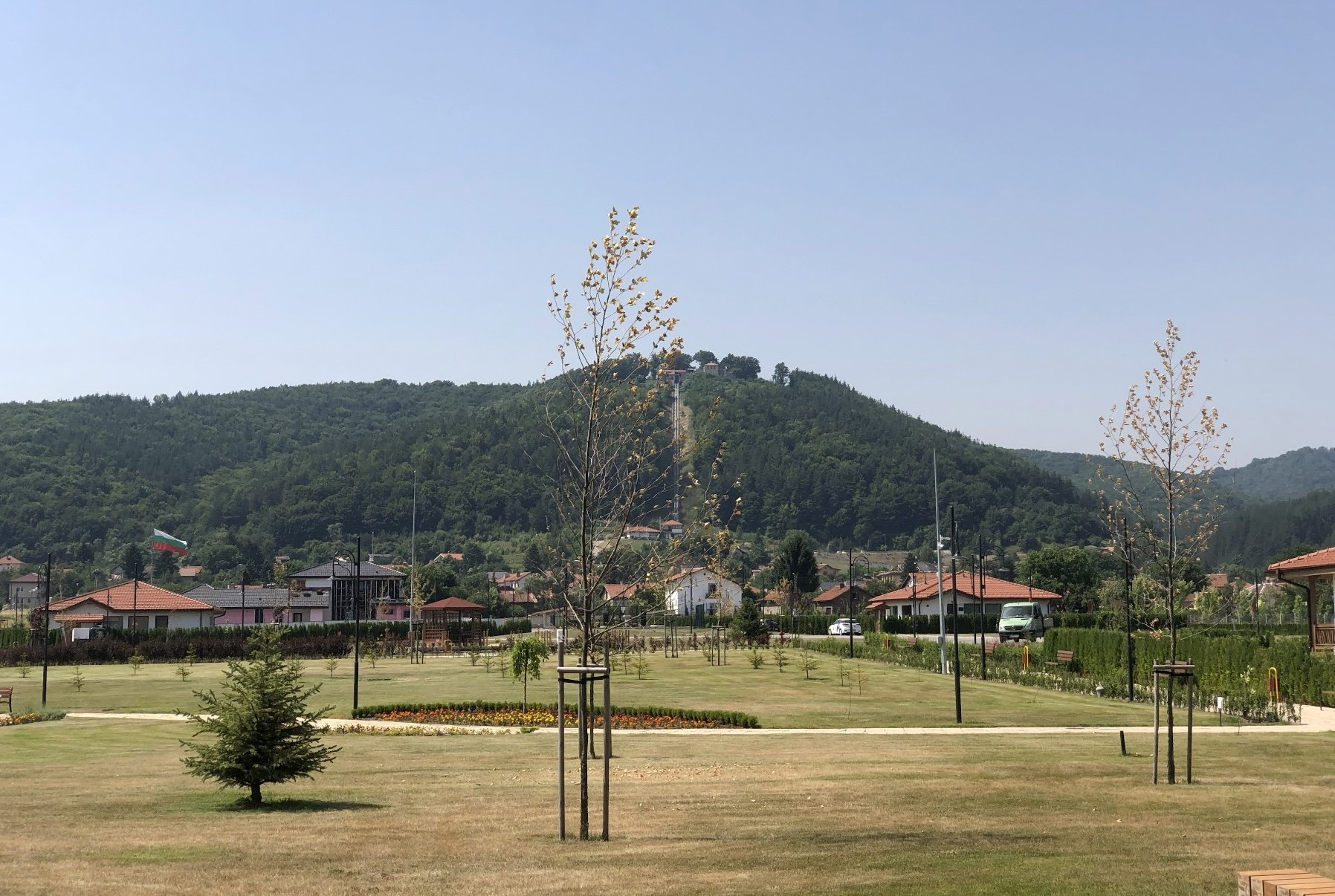 A view from the Belchin Spring, Belchin, Bulgaria.