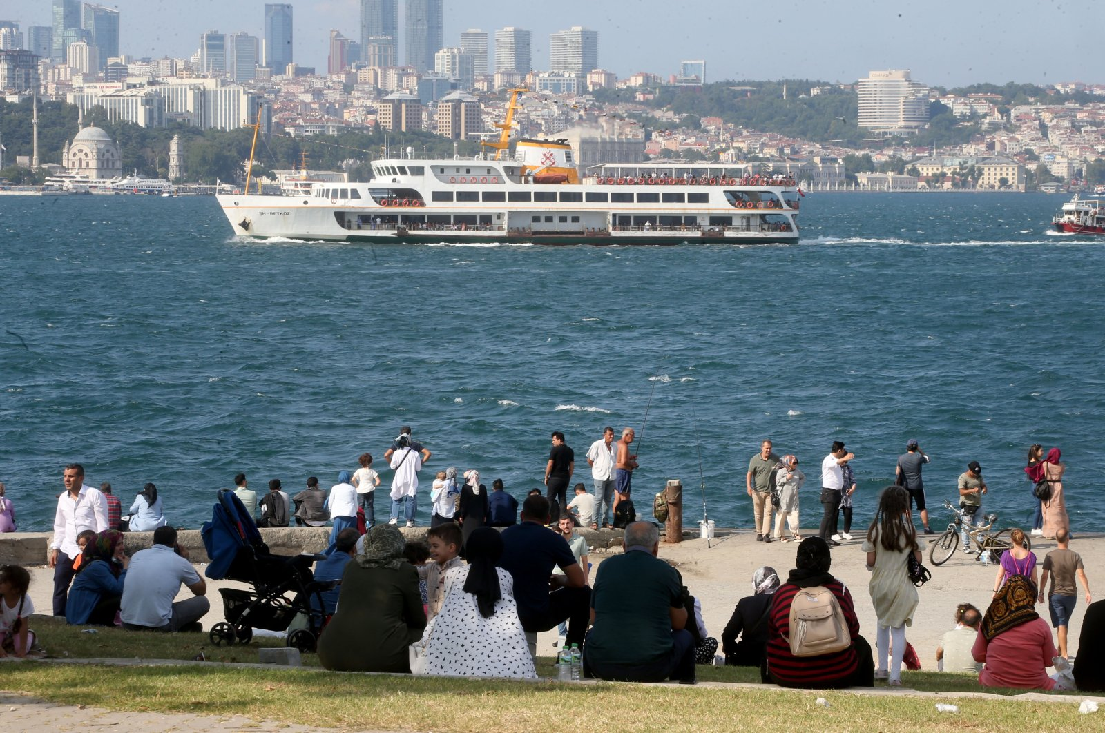 A view of the Marmara Sea from Sarayburnu coast, in Istanbul, Turkey, July 21, 2021. (AA PHOTO)