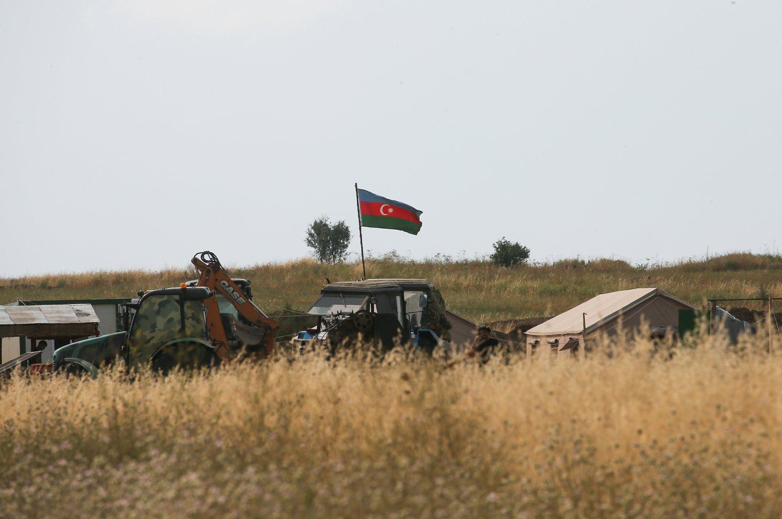 An Azerbaijani military check point on the line of contact on the Azerbaijani-Armenian border, Qubadli, Azerbaijan, July 3, 2021 (Getty Images)