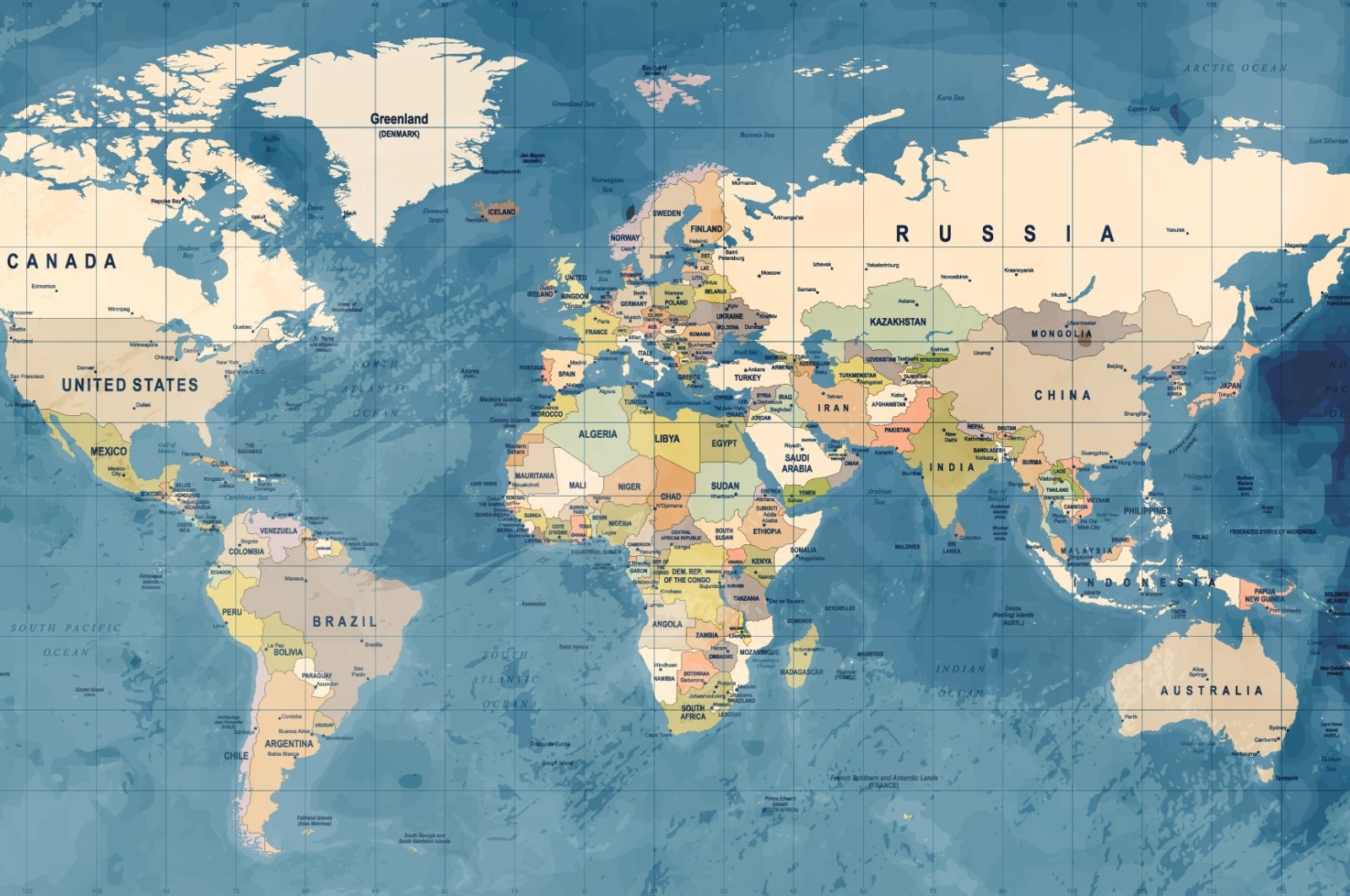 An illustration showing the world map. (Shutterstock Photo)