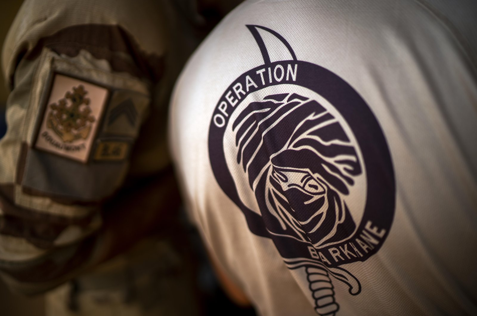 French Barkhane force soldiers, who wrapped up a four-month tour of duty in the Sahel, to leave their base in Gao, Mali, on June 9, 2021. (AP Photo)