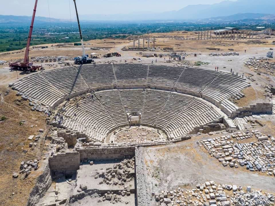 A general view from the theater in the ancient city of Laodicea, Denizli, western Turkey, July 26, 2021. (AA Photo)
