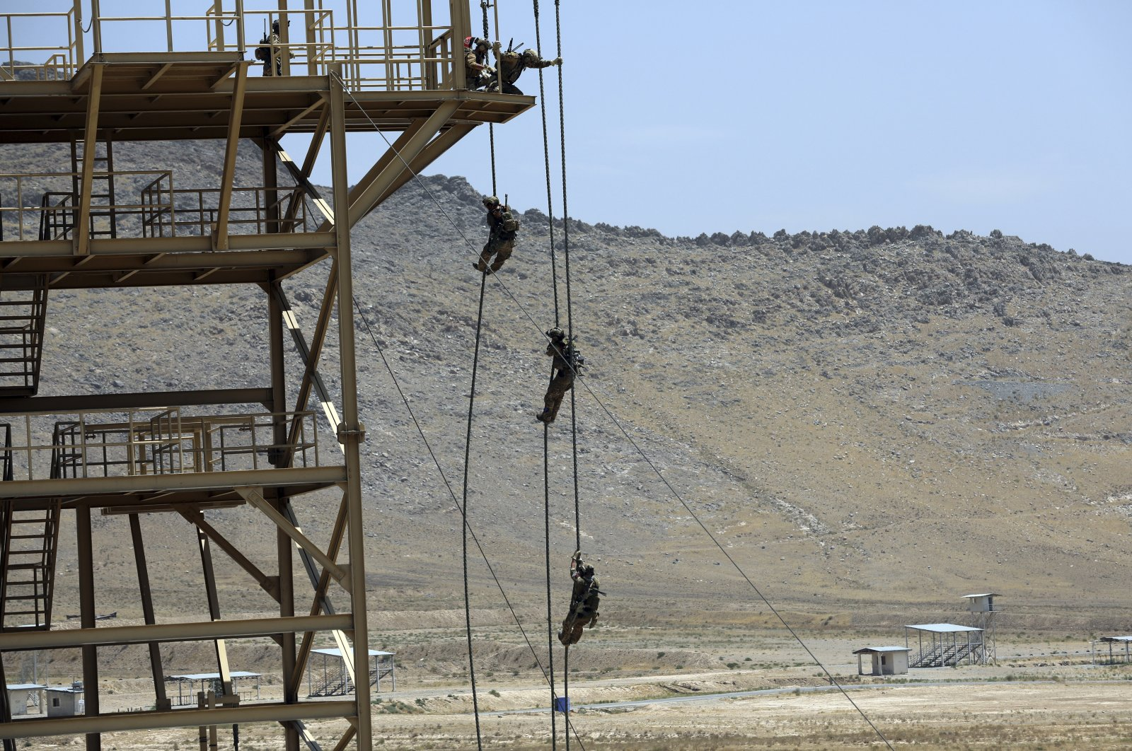Afghan Special Forces take part in a training exercise after a three-month training program at the Kabul Military Training Center in Kabul, Afghanistan, July 17, 2021. (AP Photo)