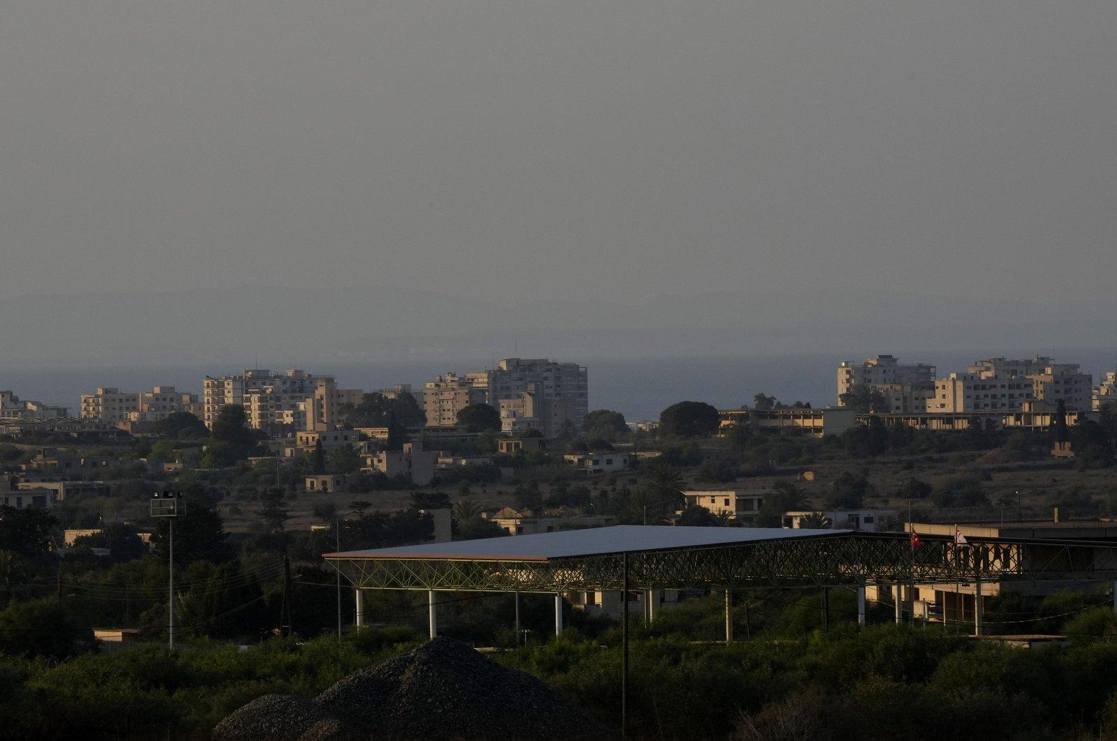A view of Varosha (Maraş), Turkish Republic of Northern Cyprus (TRNC), July 19, 2021. (AP Photo)
