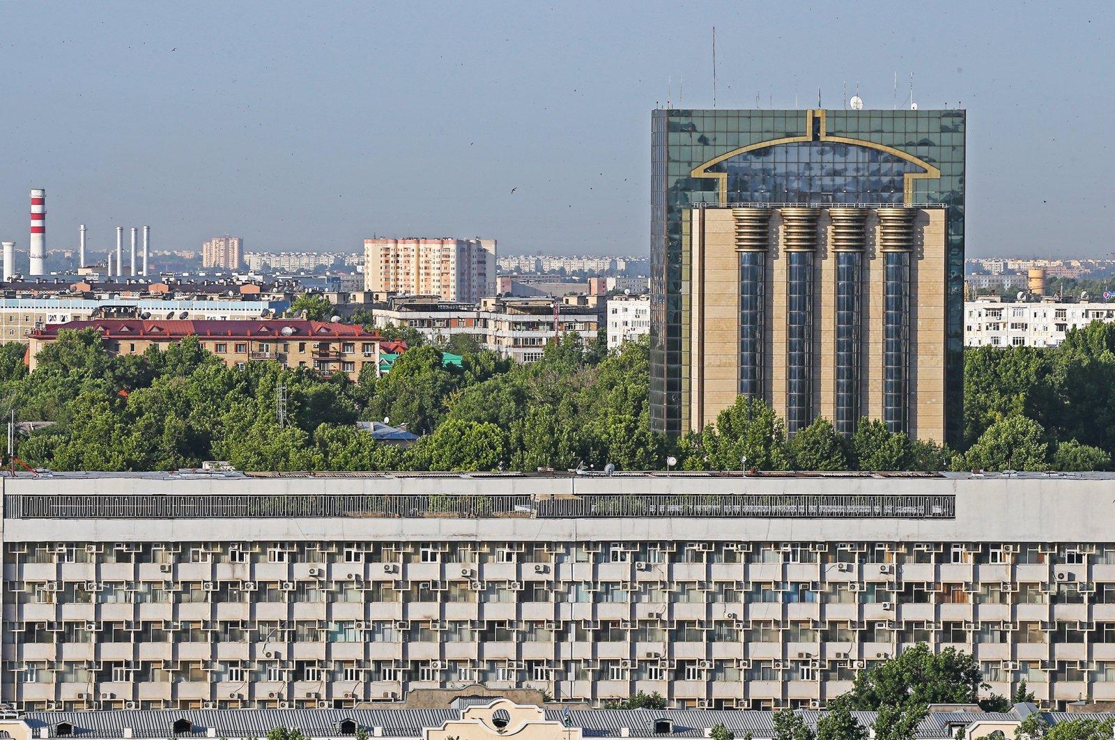 A view of the Central Bank of Uzbekistan building, in Tashkent, Uzbekistan, June 19, 2017. (Getty Images Photo)