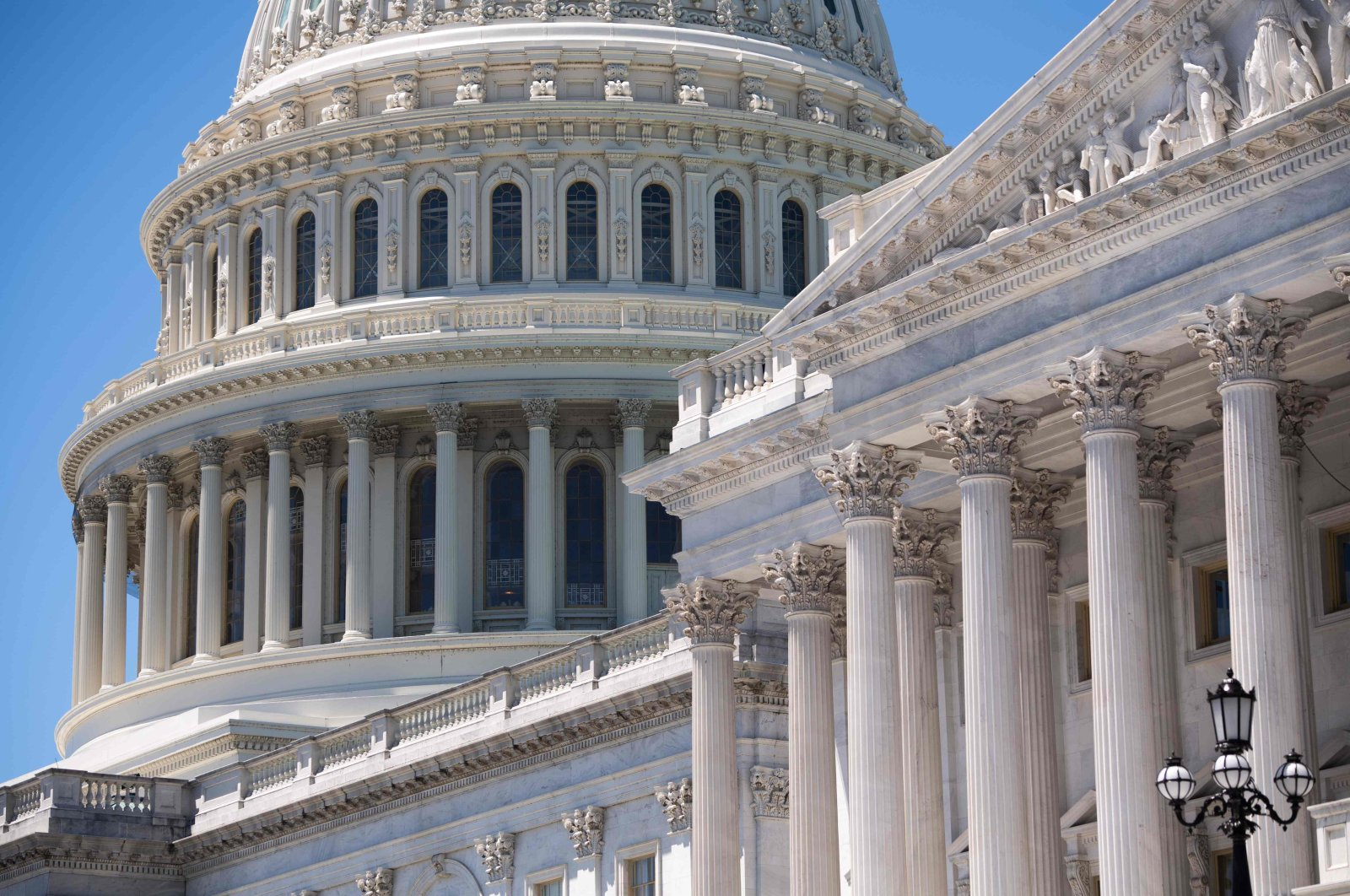 This file photo taken on June 11, 2019, shows the outside of the U.S. Capitol in Washington.  (AFP Photo)