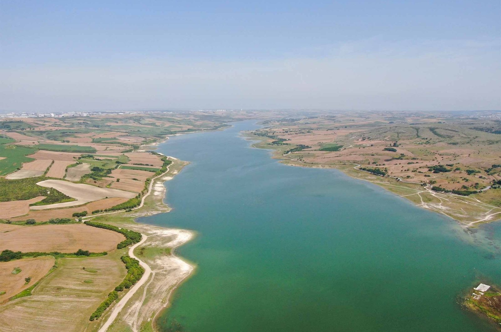 The lands on the route of the Kanal Istanbul project that will connect the sea of Marmara and the Black Sea in Istanbul, Turkey, June 28, 2021. (IHA Photo)