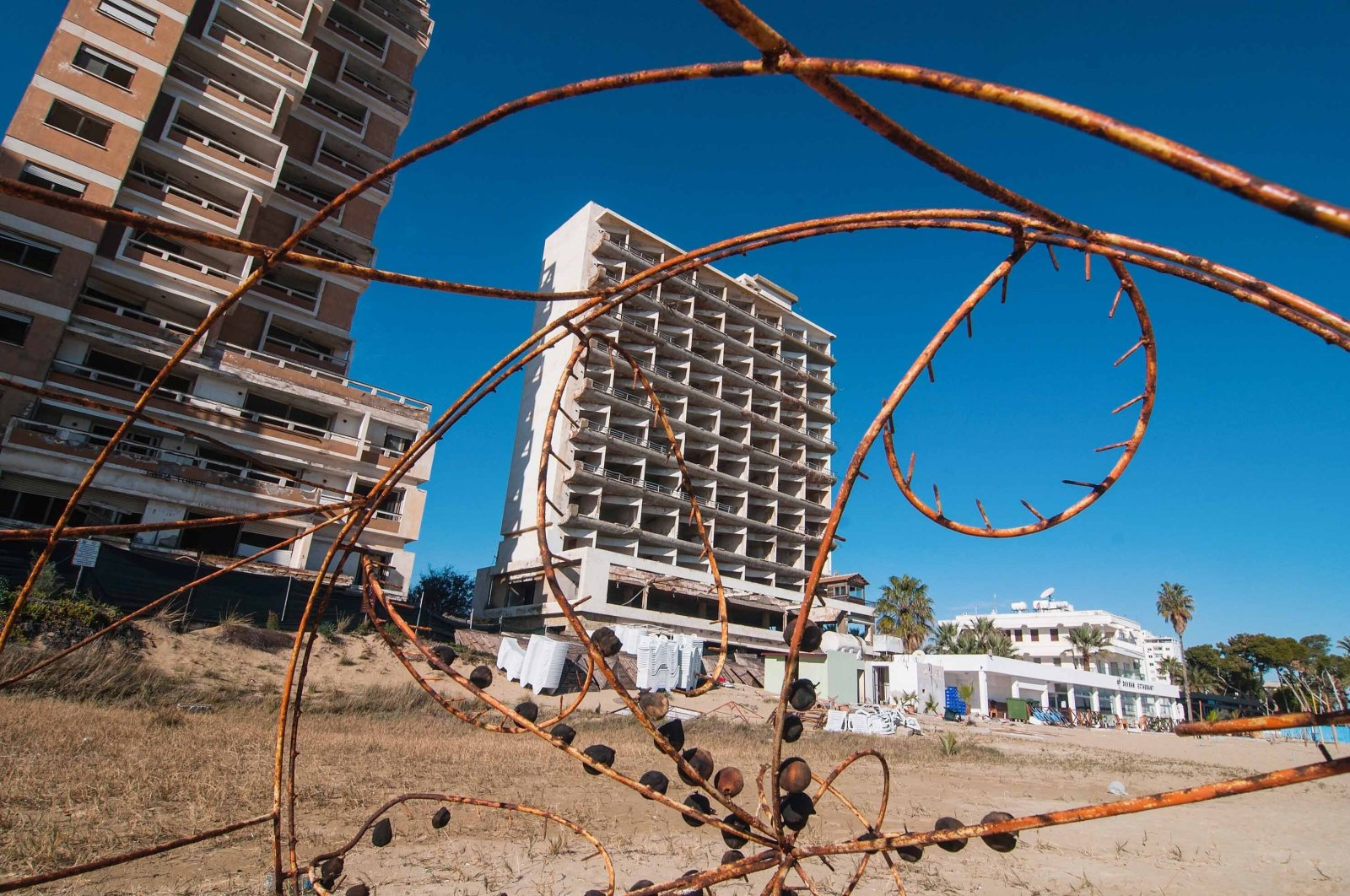 An abandoned hotel is seen in the Varosha quarter of the beach on Jan. 5, 2017 in the Turkish Republic of Northern Cyprus.  (Getty Images File Photo)