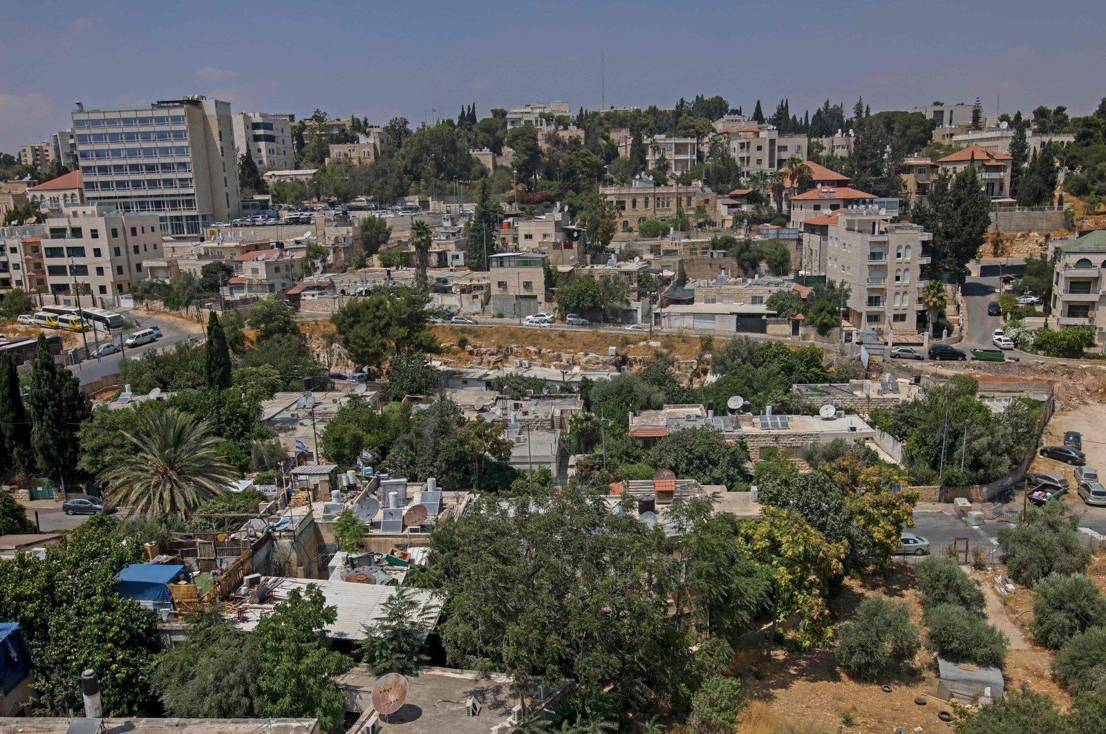 The Sheikh Jarrah neighborhood of East Jerusalem, occupied Palestine, July 26, 2021. (AFP Photo)