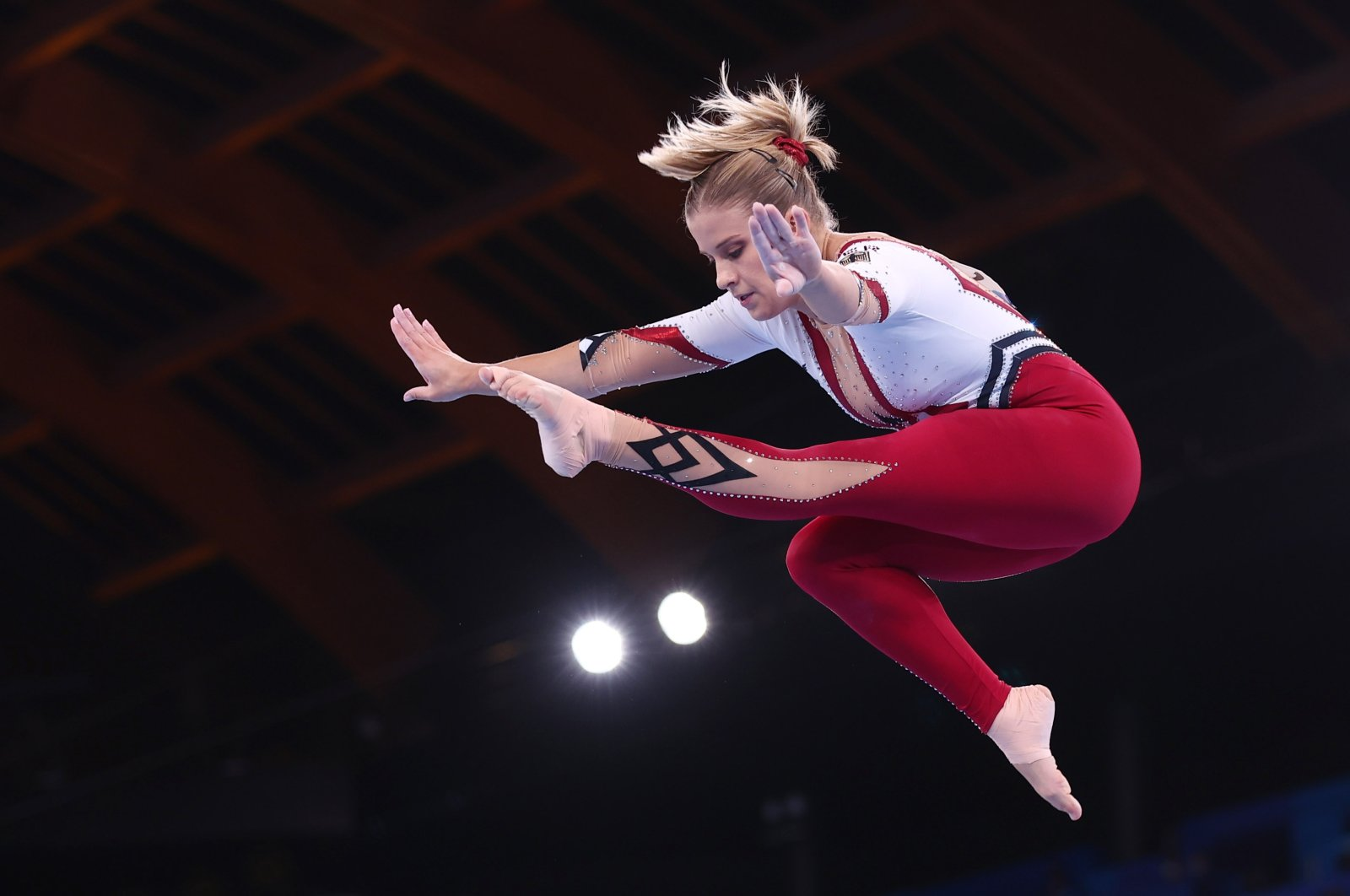 Germany's Elisabeth Seitz in action on the balance beam at the Tokyo 2020 Olympics at theAriake Gymnastics Centre, Tokyo, Japan, July 25, 2021.