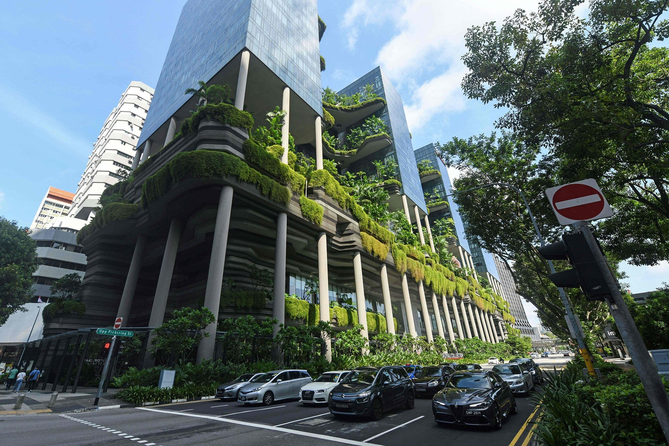 A view of the Park Royal Collection Hotel at Pickering Street in Singapore, July 23, 2021. (AFP Photo)