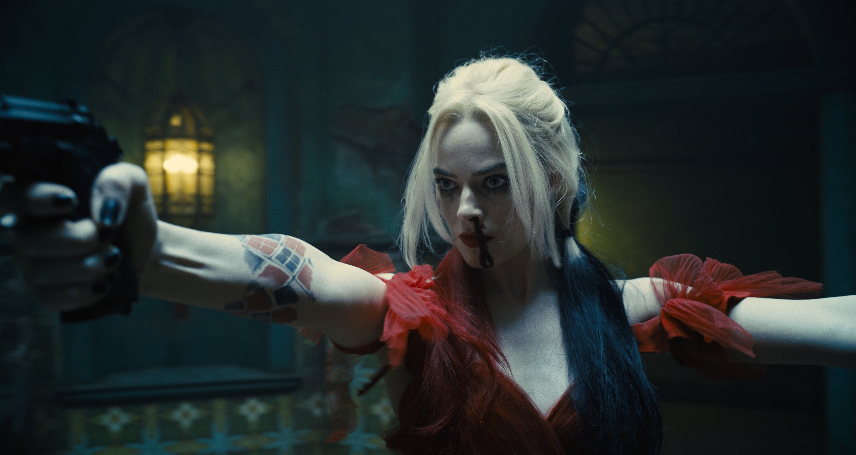 This image provided by Warner Bros. Pictures shows Margot Robbie in a scene from 'The Suicide Squad.' (Warner Bros. Pictures via AP)