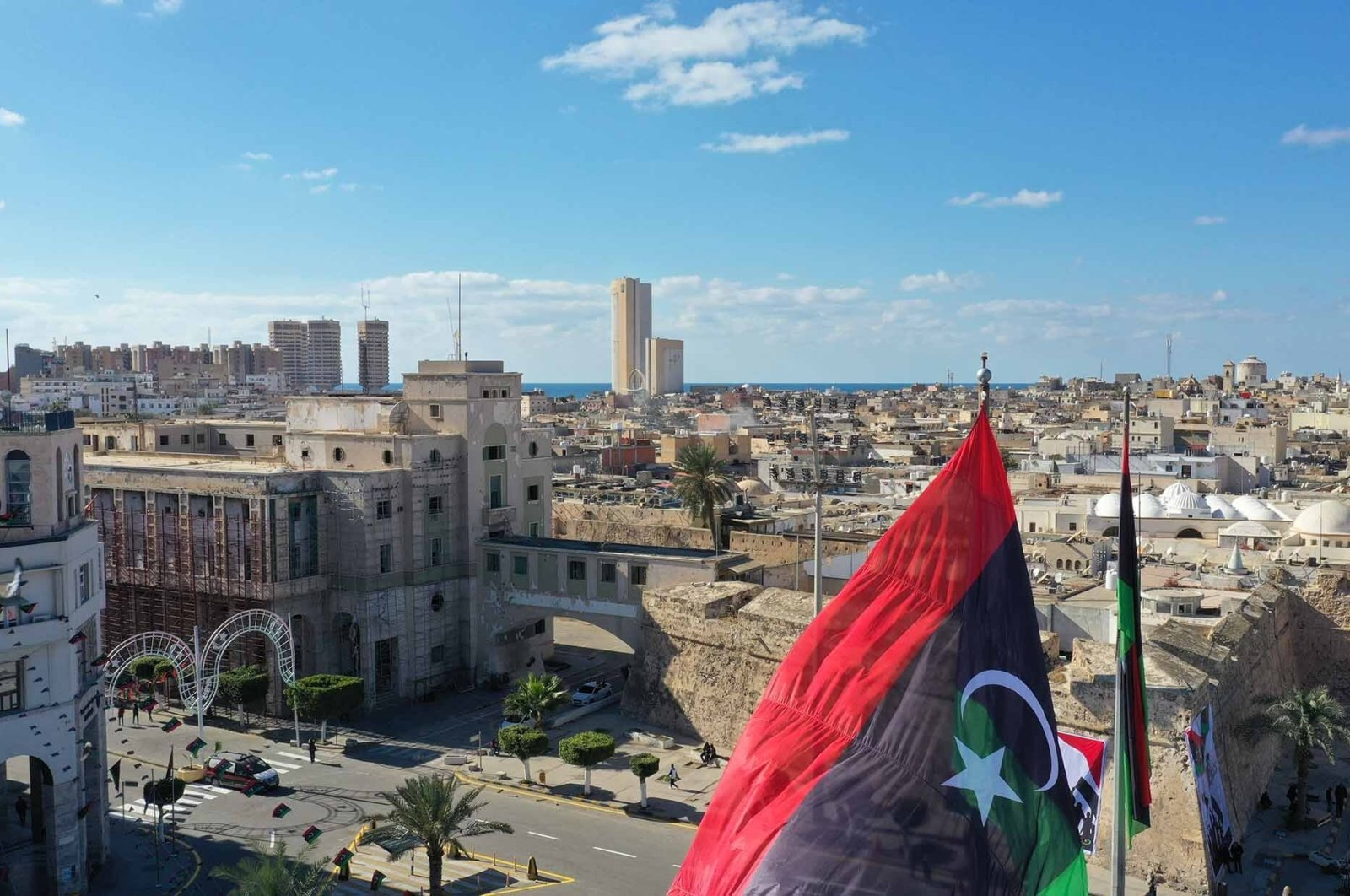 Martyrs' Square a day ahead of commemorations of the 10th anniversary of the uprising against Moammar Gadhafi, Feb. 16, 2021. (Shutterstock File Photo)