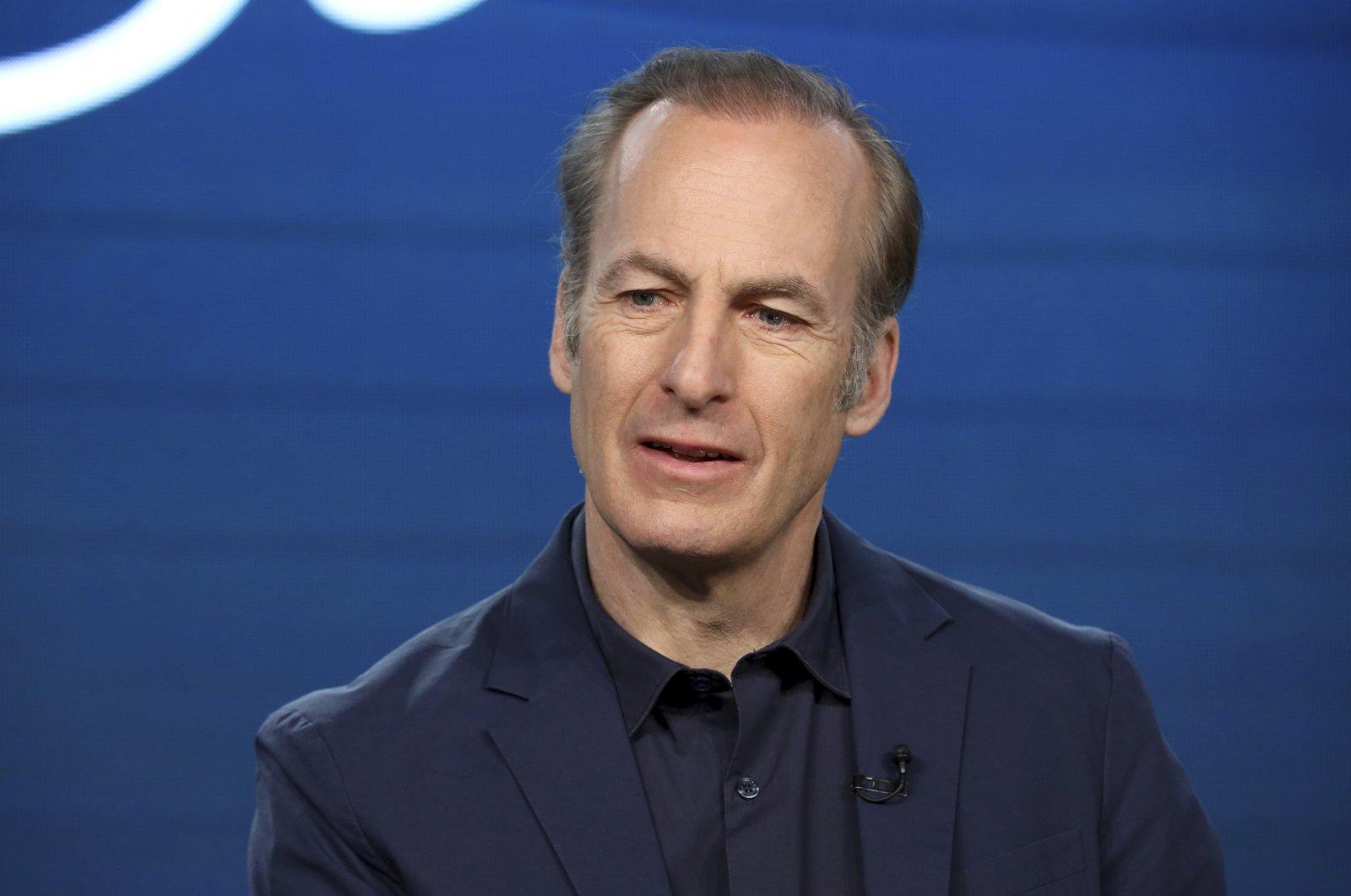"Bob Odenkirk speaks at AMC's ""Better Call Saul"" panel during the AMC Networks TCA 2020 Winter Press Tour in Pasadena, California, U.S., Jan. 16, 2020. (AP Photo)"