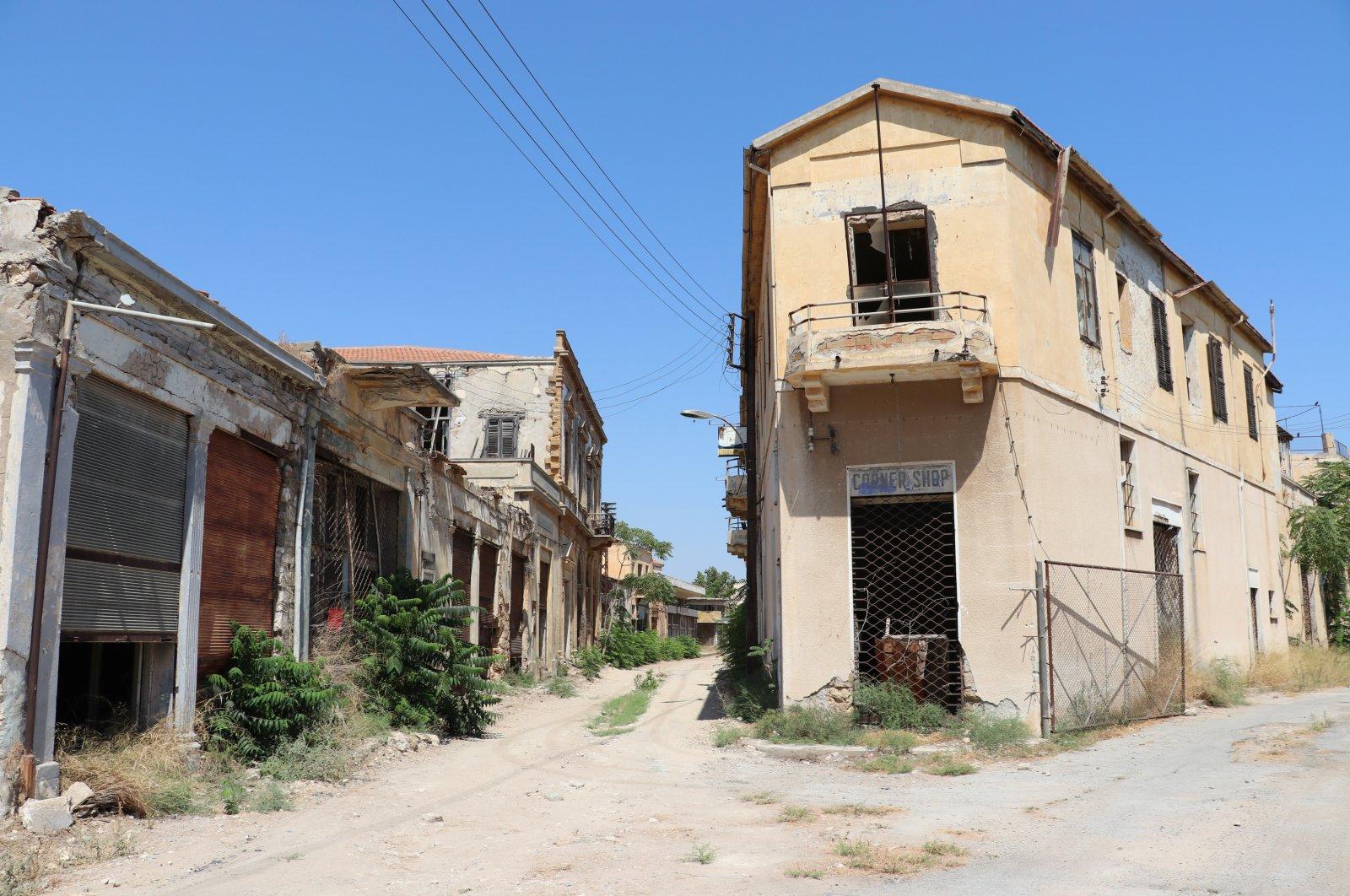 A view from Varosha (Maraş) in the Turkish Republic of Northern Cyprus (TRNC), July 26, 2021. (AA Photo)