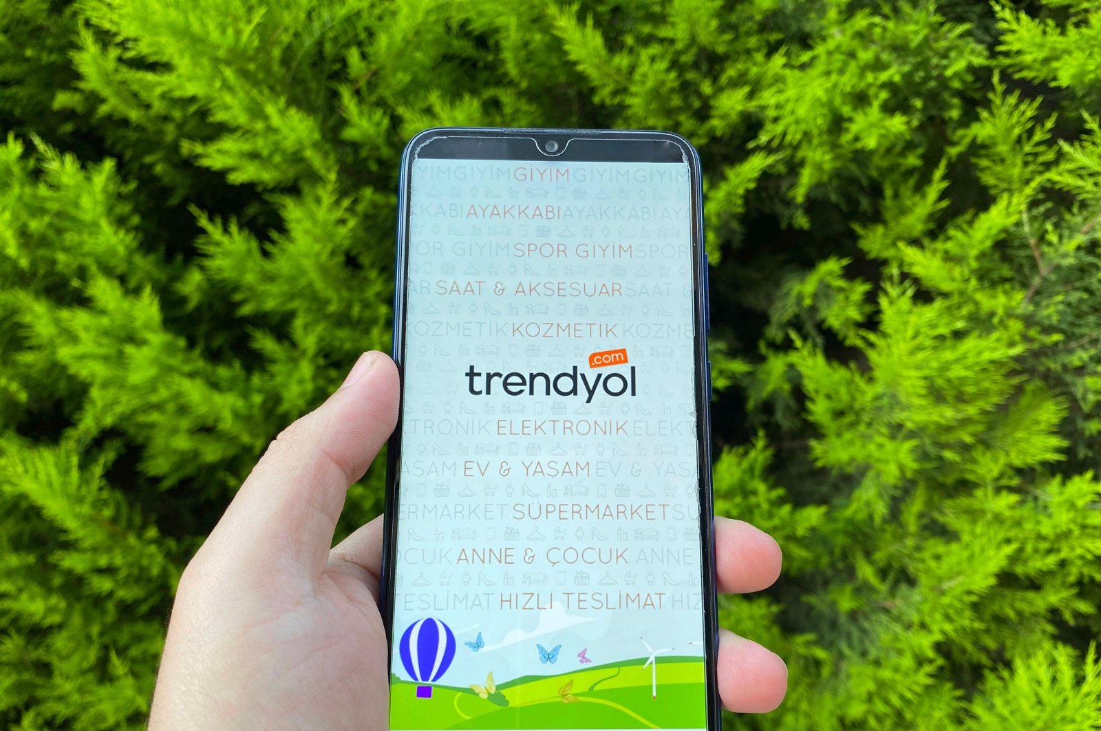 The Trendyol application is seen on the display of a smartphone, Istanbul, Turkey, May 30, 2020. (Shutterstock Photo)