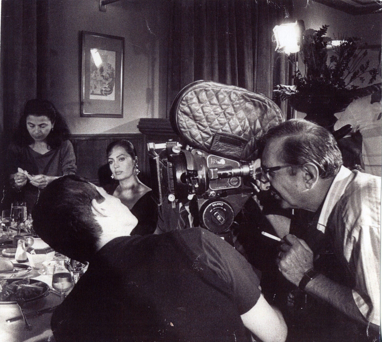 Atıf Yılmaz photographed while shooting a movie. (AA Photo)