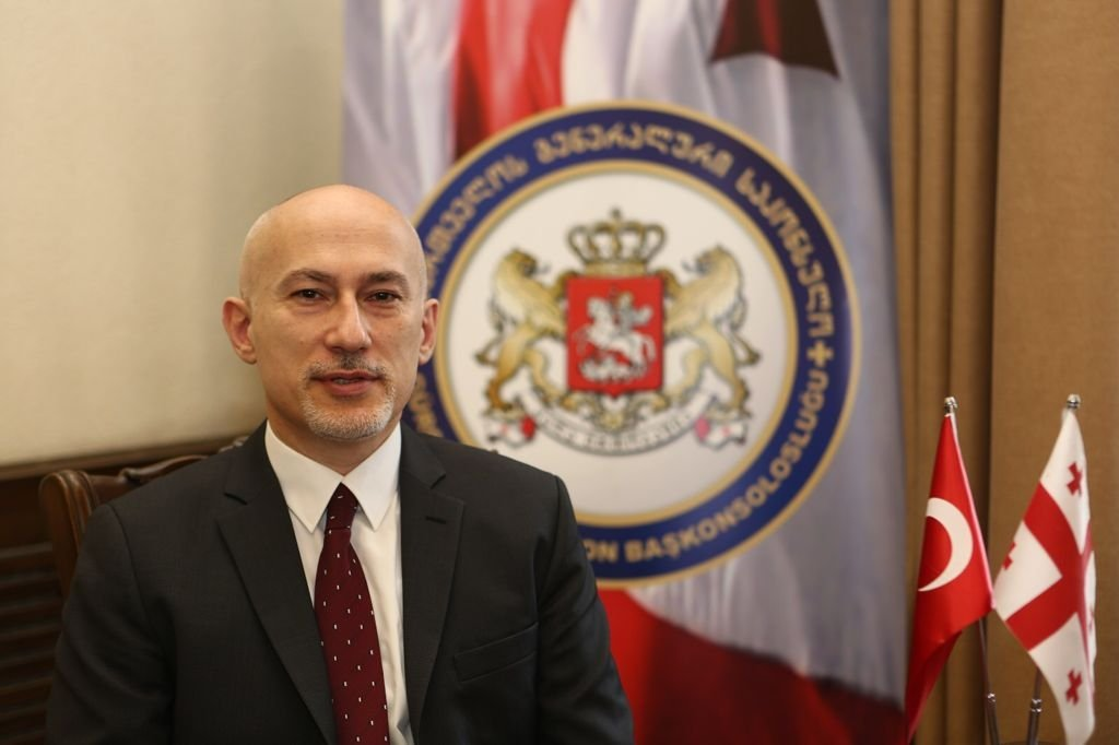 Georgia's Trabzon consul general speaking to Anadolu Agency (AA), July 30, 2021 (AA Photo)