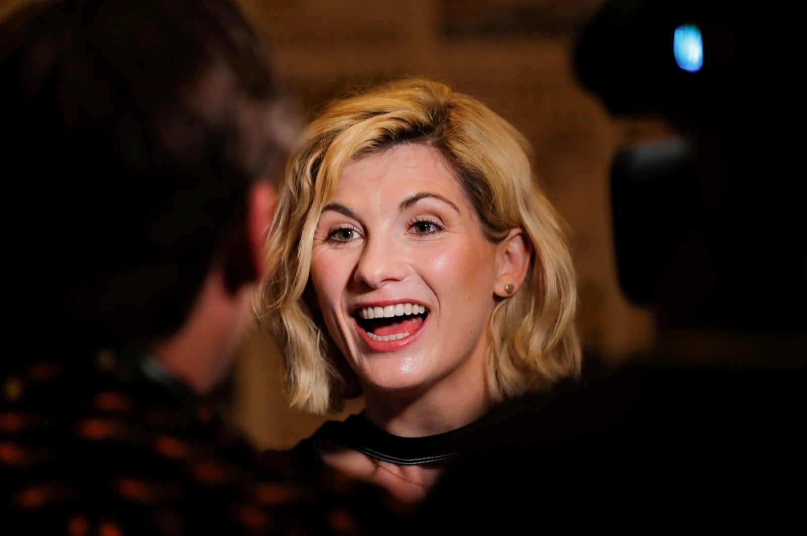 """Jodie Whittaker, """"The Doctor"""" from the cast of the BBC show """"Doctor Who,"""" attends the pop culture convention Comic Con in San Diego, California, U.S., July 19, 2018.  (Reuters Photo)"""