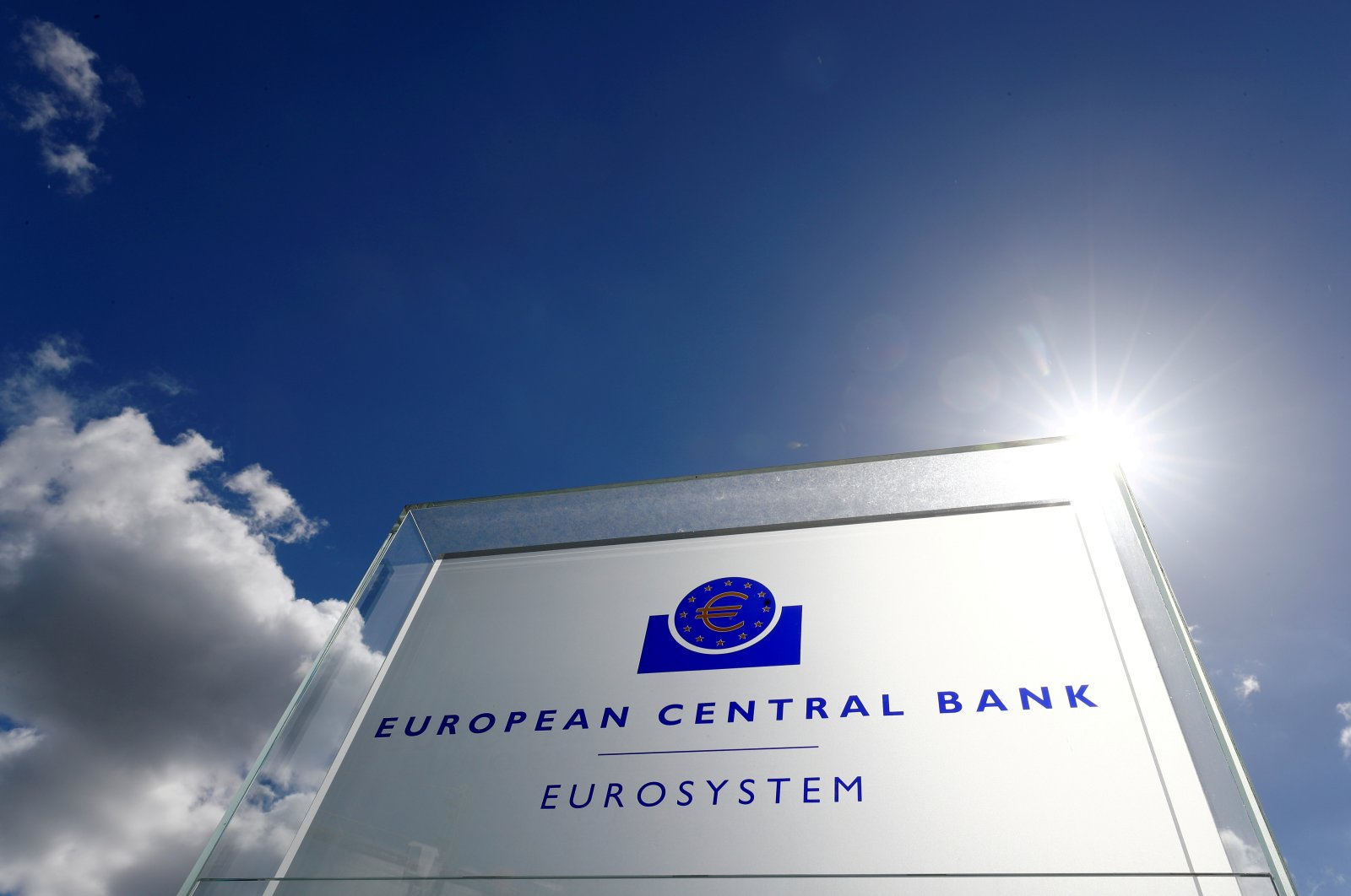 The logo of the European Central Bank (ECB) is pictured outside its headquarters in Frankfurt, Germany, April 26, 2018. (Reuters Photo)