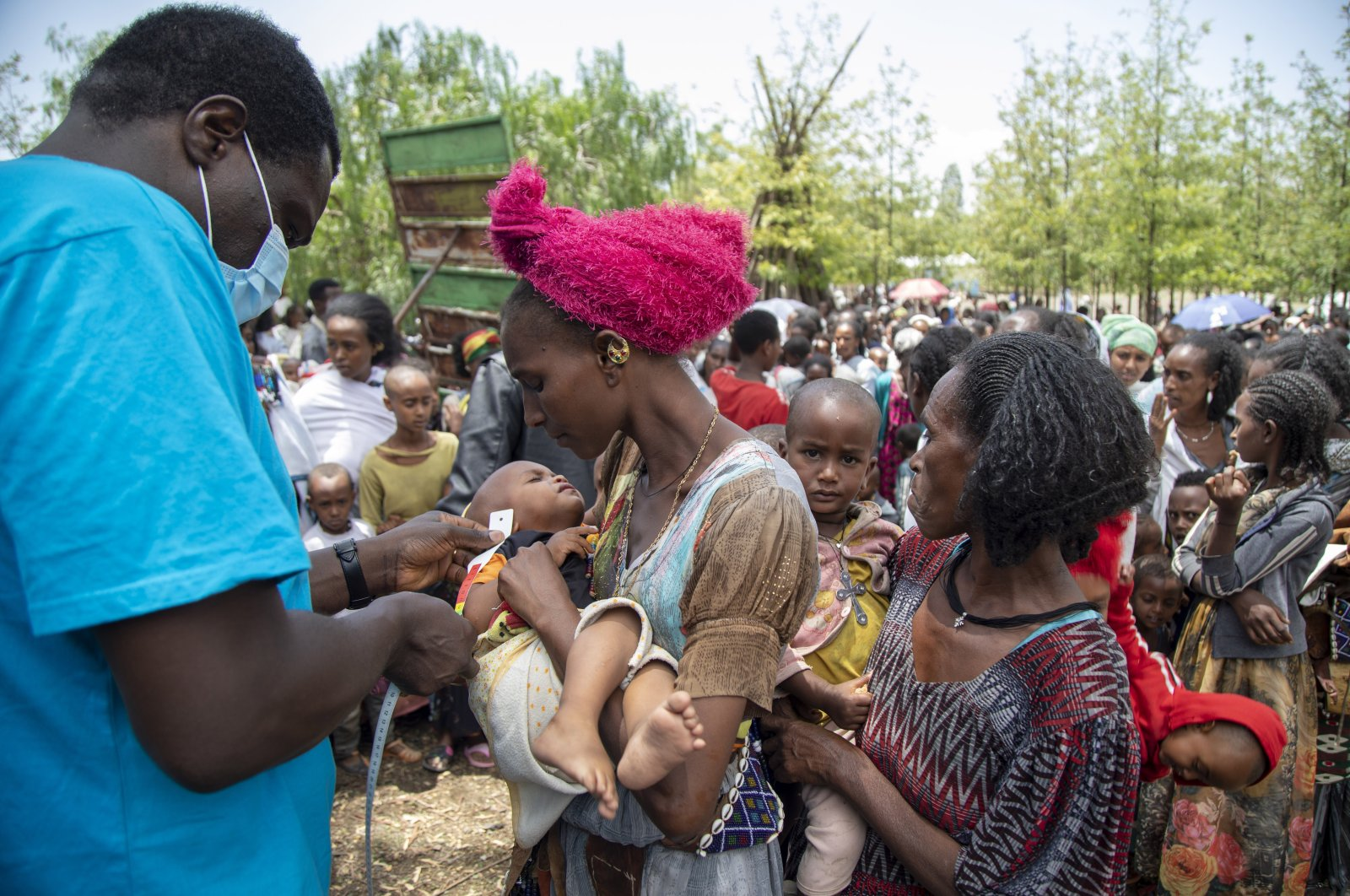 A Joint U.N. and international NGOs team rapidly respond to the humanitarian needs of communities affected by the ongoing conflict in Ethiopia's Tigray region, July 19, 2021.  (UNICEF via AP)