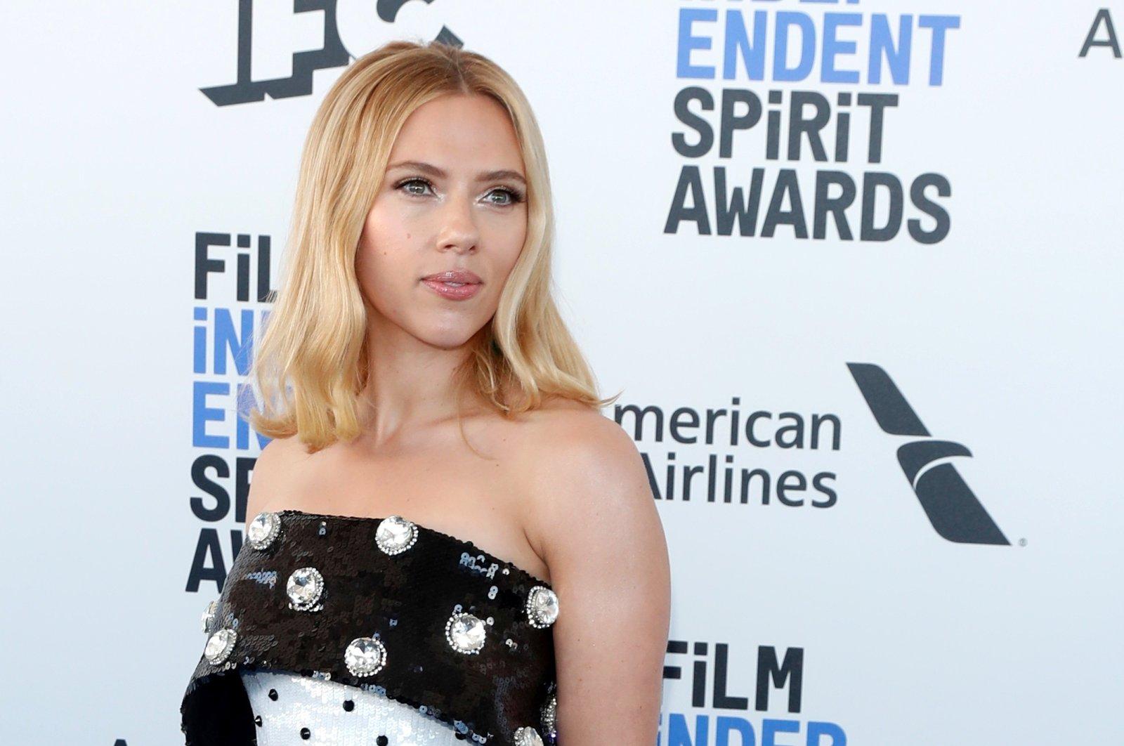 Actress Scarlett Johansson arrives at the35th Film Independent Spirit Awards in Santa Monica, California, U.S., Feb.8, 2020. (Reuters Photo)