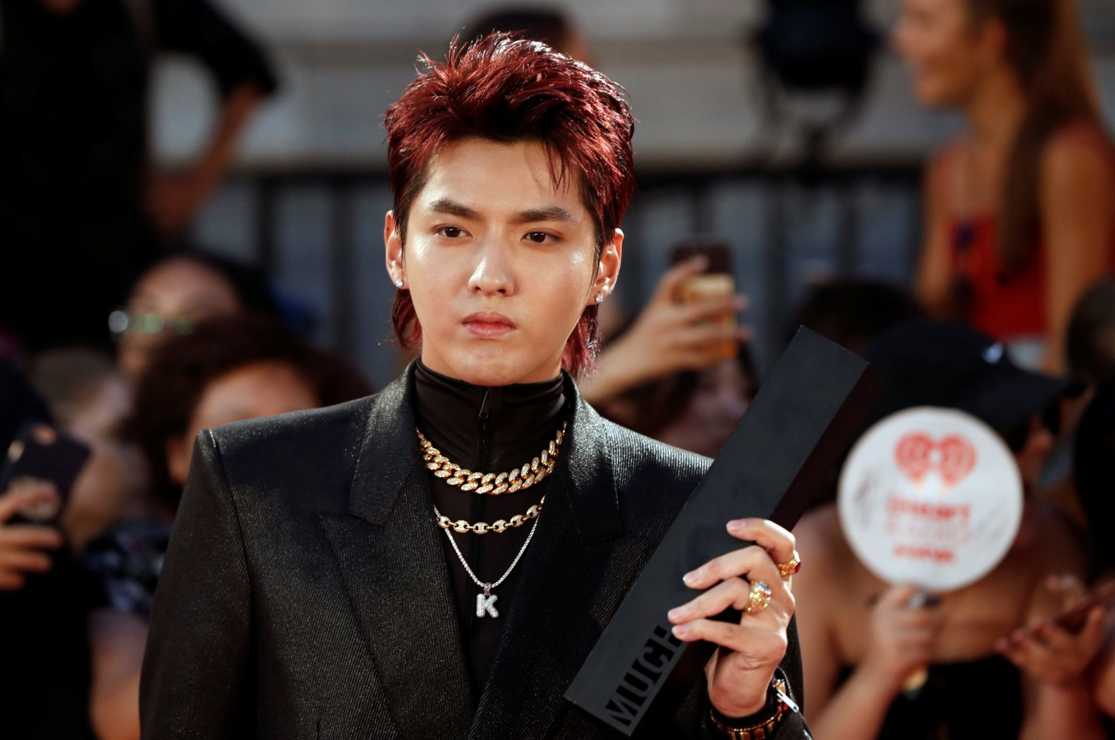 Kris Wu arrives at the iHeartRadio MuchMusic Video Awards (MMVA) in Toronto, Ontario, Canada, Aug. 26, 2018. (Reuters Photo)