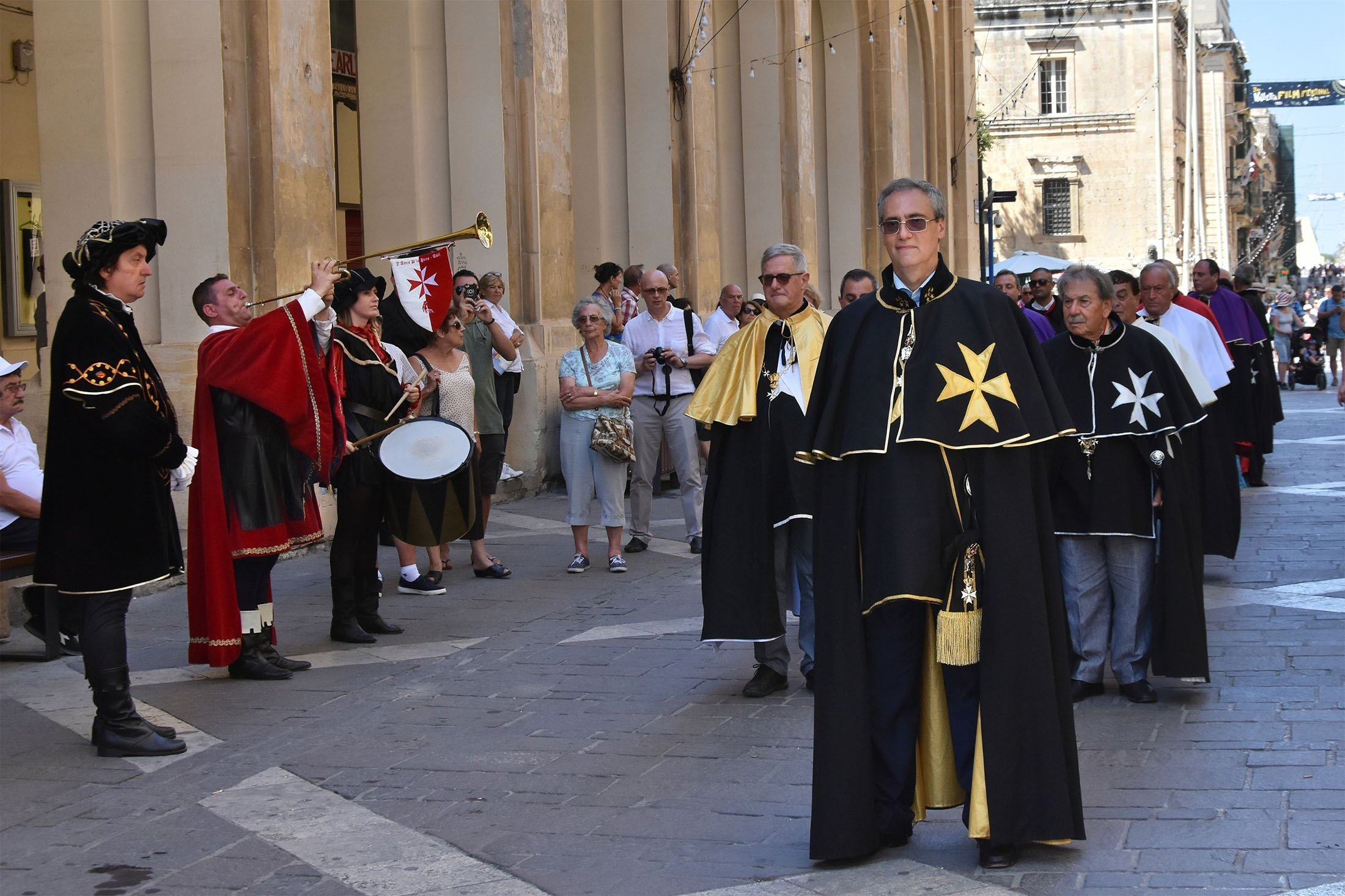 A historical re-enactment of the military parade of theOrder of the Knights of Saint John, or the Knights Hospitaller, can be seen inValletta, Malta, June 25, 2017. (Shutterstock Photo)