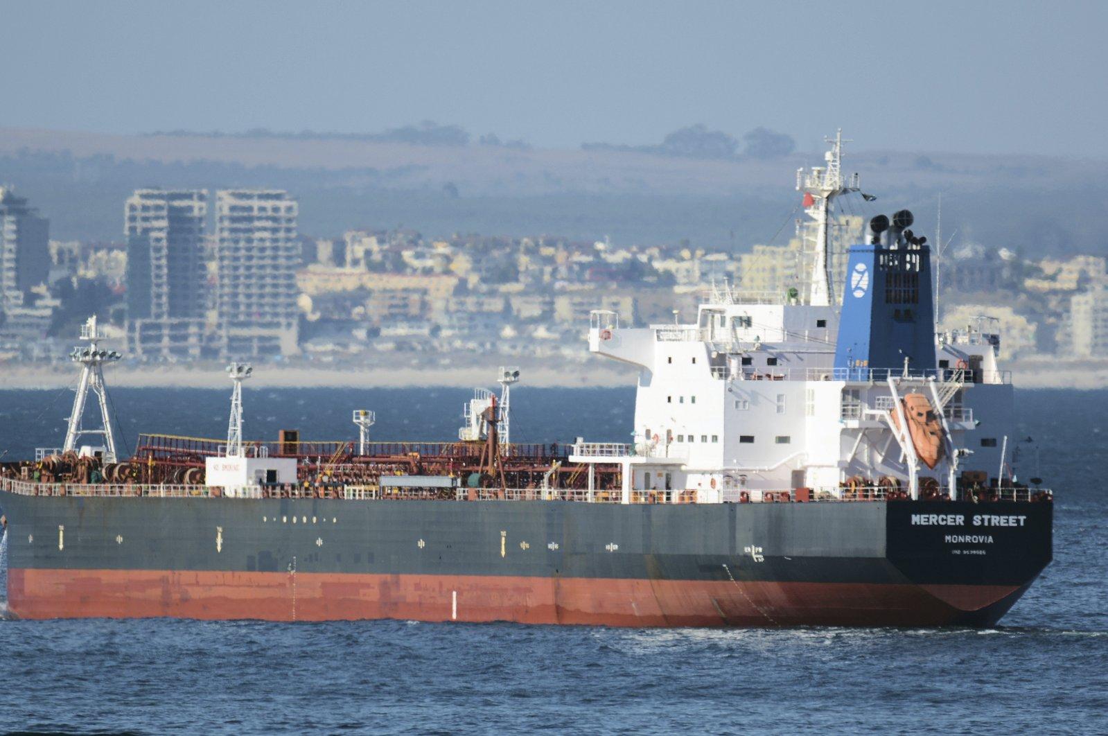 The Liberian-flagged oil tanker Mercer Street off Cape Town, South Africa, Jan. 2, 2016. (AP Photo)