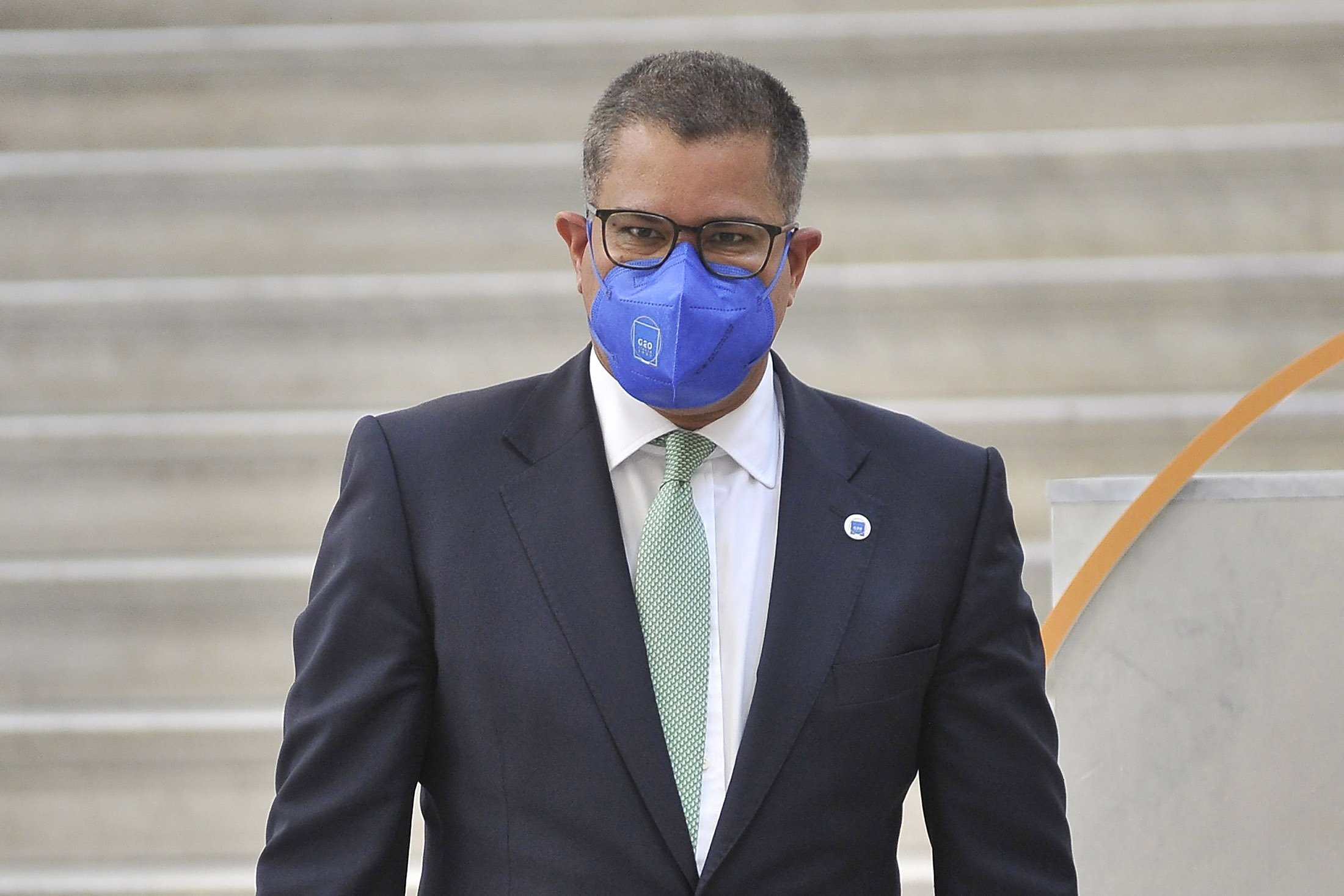 Alok Sharma, a member of the U.K. Parliament, during the meeting of the G-20 environment ministers at the city of Naples, Italy, July 23, 2021. (Getty Images Photo)