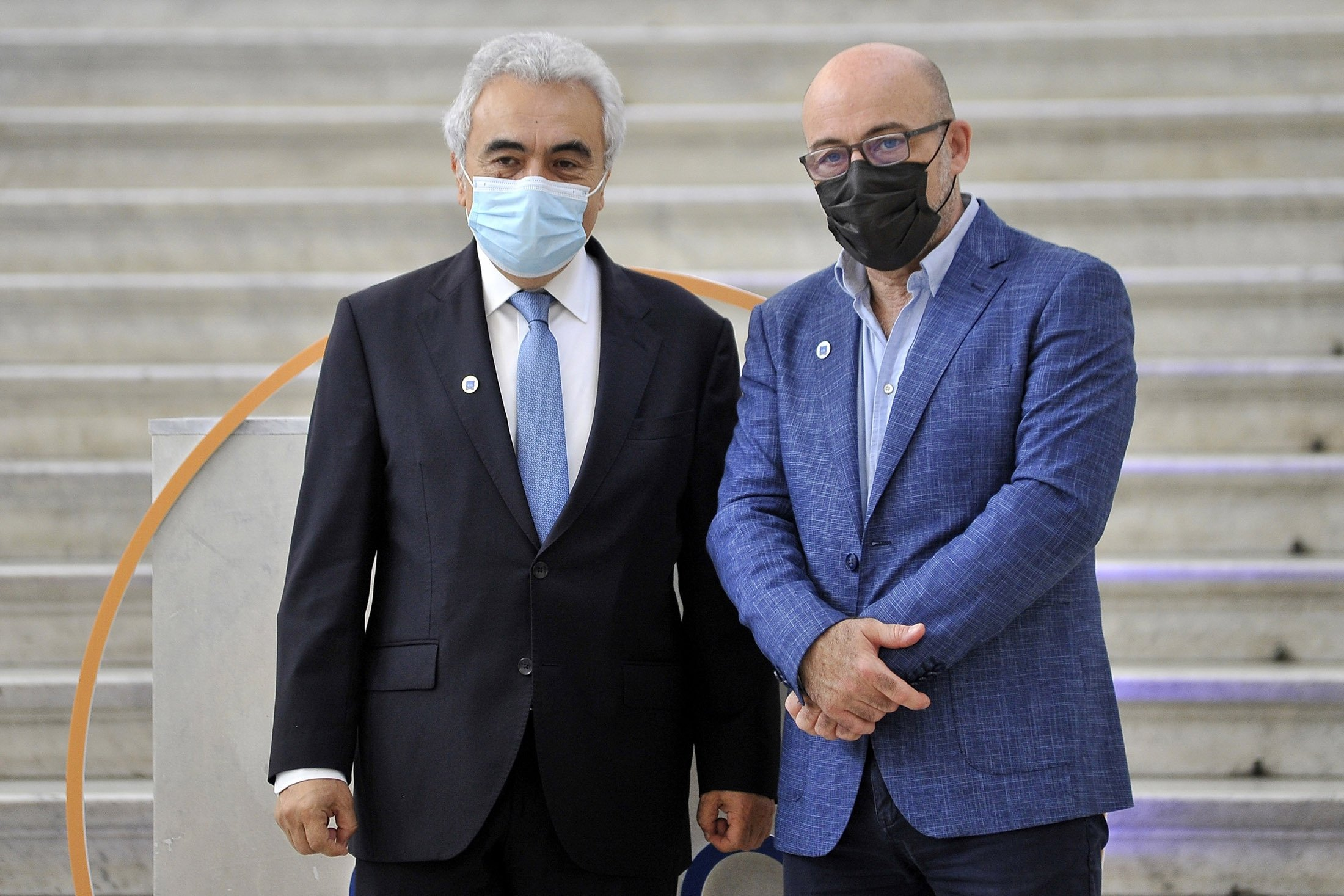 Executive Director of the International Energy Agency Fatih Birol, during the meeting of the G-20 environment ministers at the city of Naples, Italy, July 23, 2021. (Getty Images Photo)