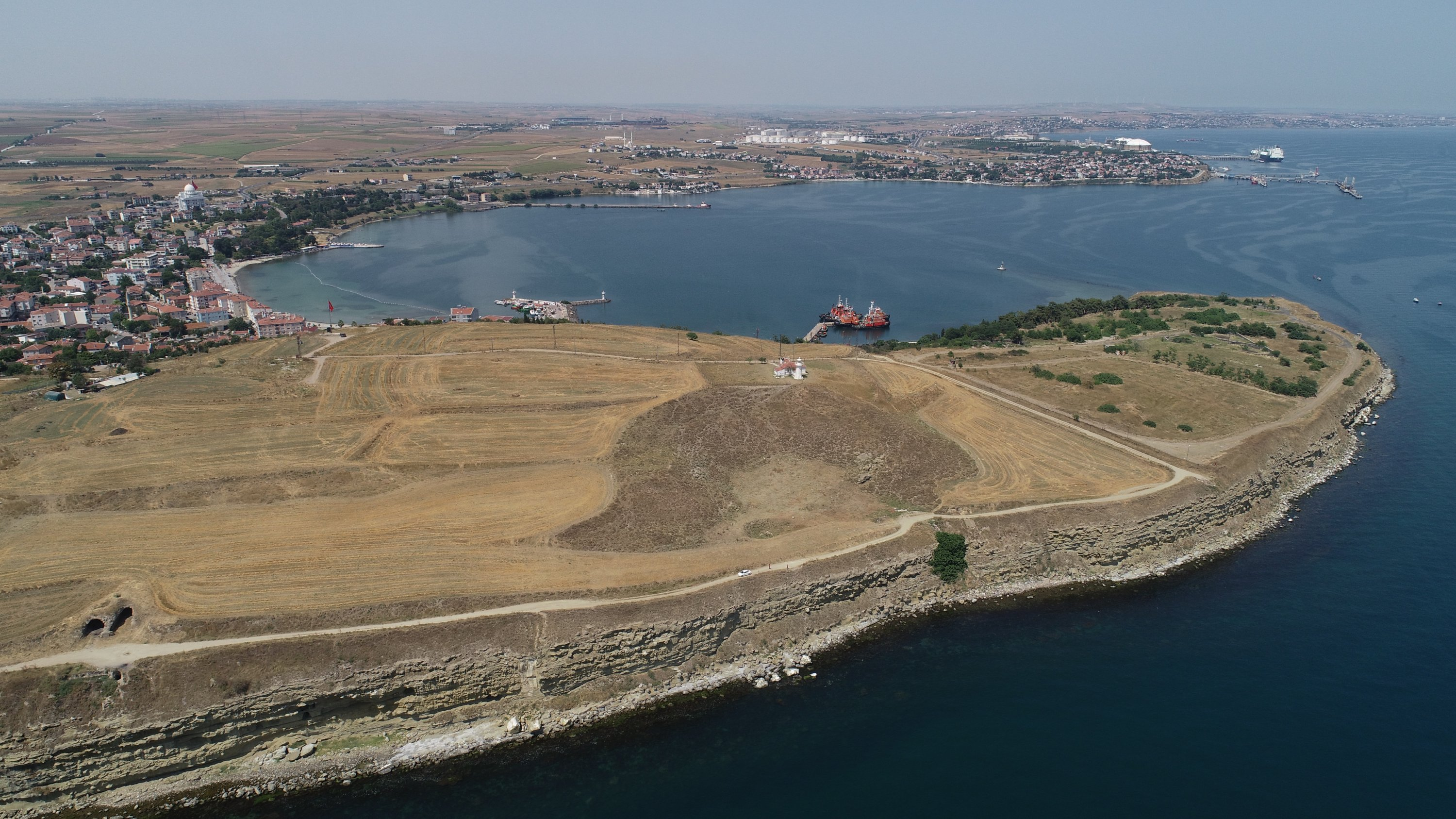 A general view from the theater area in the ancient city of Perinthos, Tekirdağ, northwestern Turkey, Aug. 1, 2021. (AA Photo)