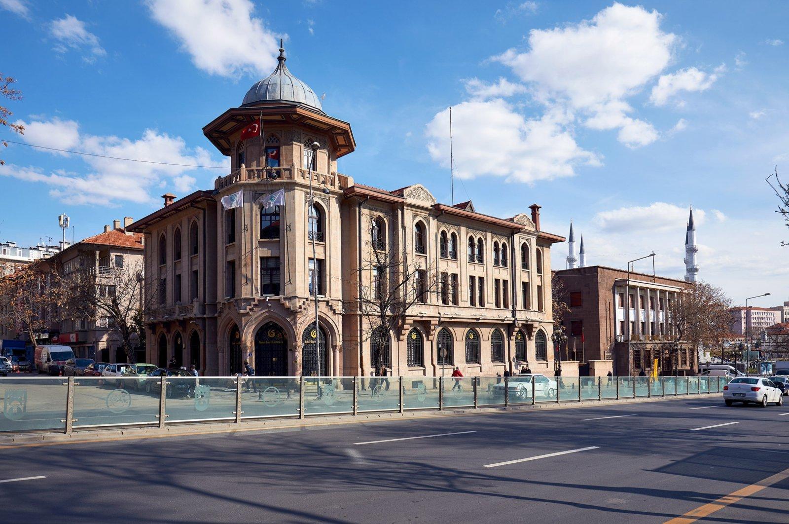Historical building of Yunus Emre institute of Turkish language and literature education in Ulus, Altindag, Ankara, March, 2020 (İstock Photo)